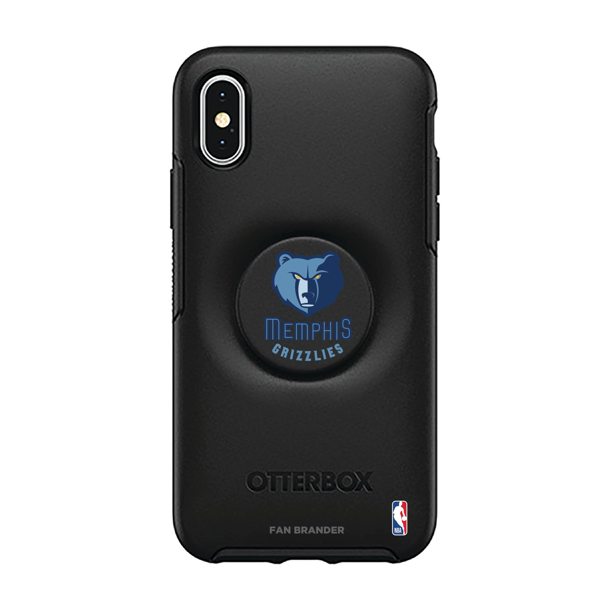 Memphis Grizzlies OtterBox Otter + Pop Symmetry Series iPhone Case with Integrated PopSockets PopGrip