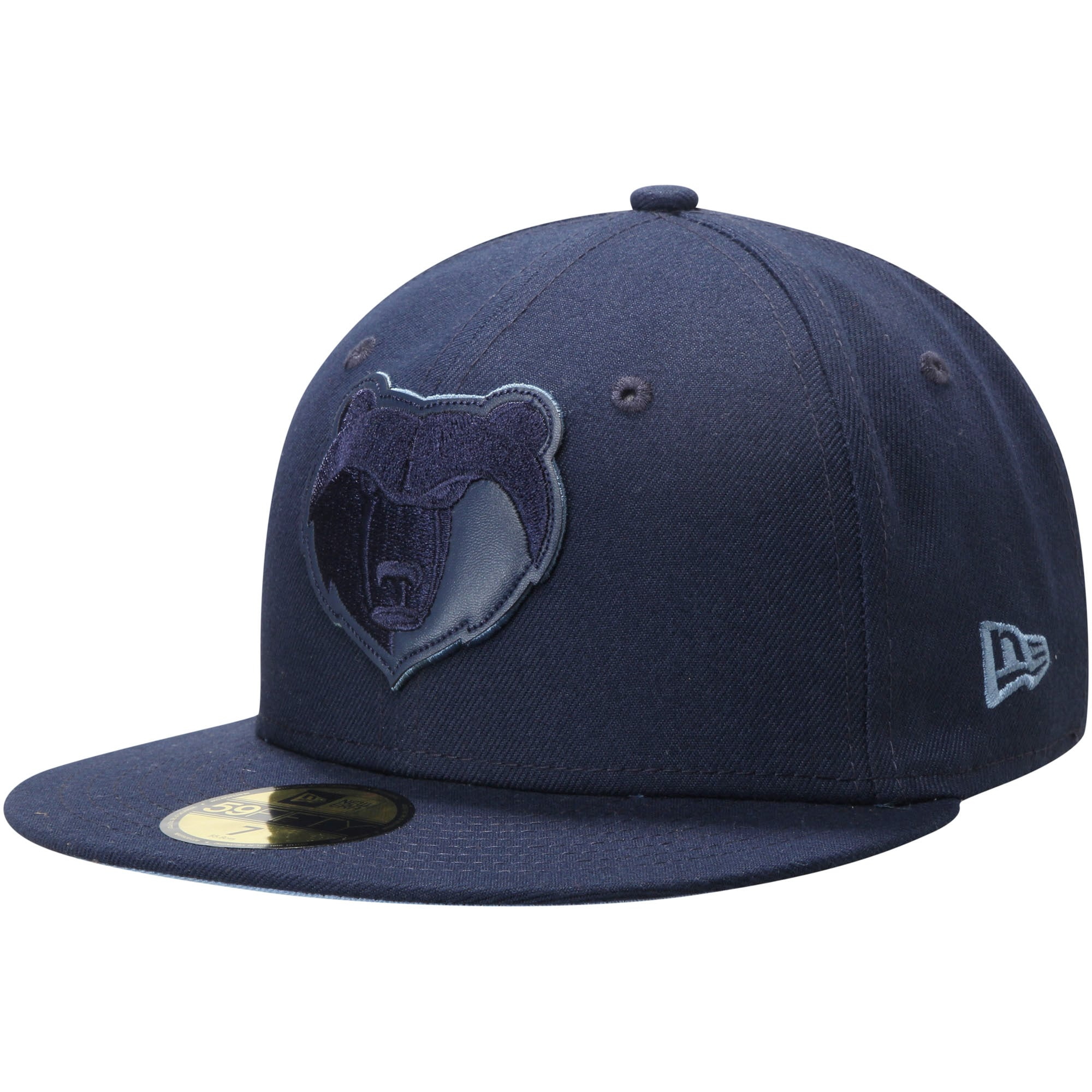 Memphis Grizzlies New Era Tonal Logo Fitted Hat - Navy