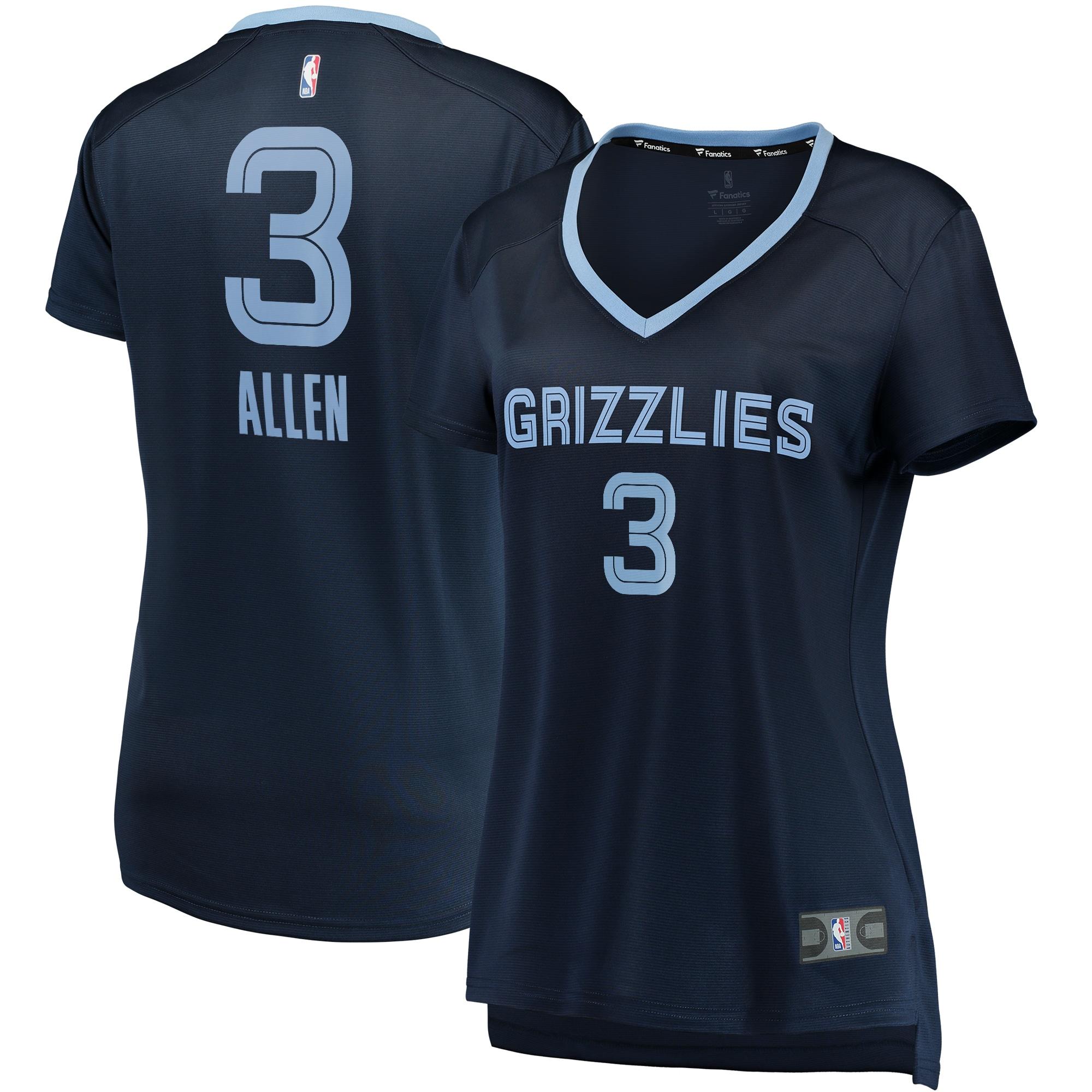 Grayson Allen Memphis Grizzlies Fanatics Branded Women's Fast Break Replica Jersey Navy - Icon Edition