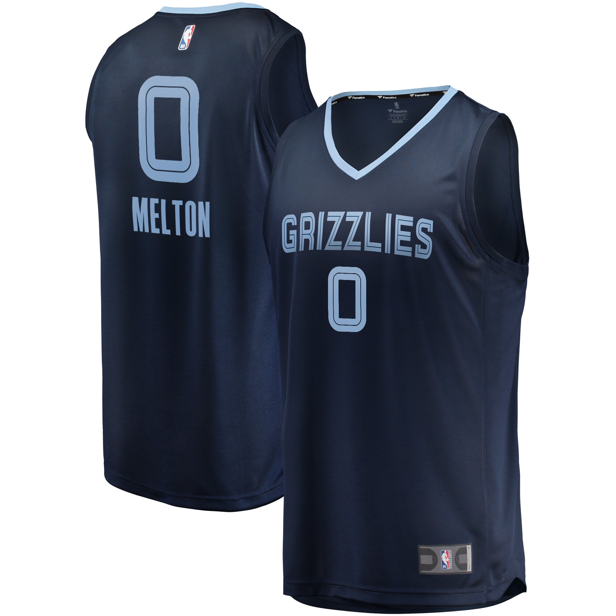 De'Anthony Melton Memphis Grizzlies Fanatics Branded Fast Break Replica Jersey Navy - Icon Edition