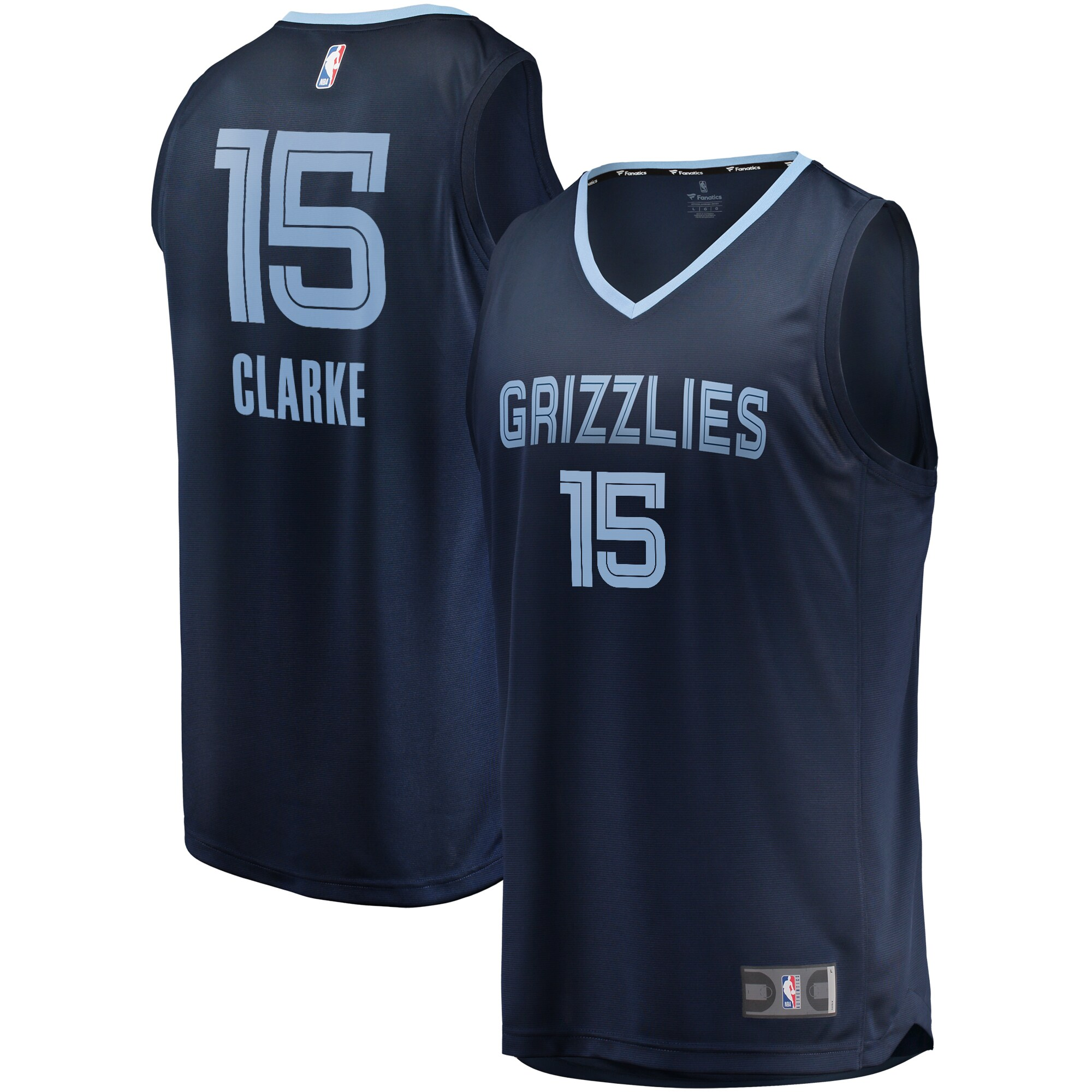 Brandon Clarke Memphis Grizzlies Fanatics Branded Fast Break Replica Jersey Navy - Icon Edition