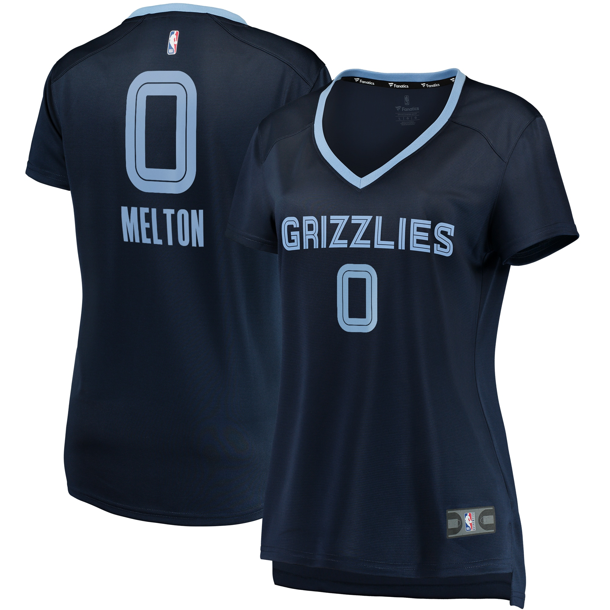 De'Anthony Melton Memphis Grizzlies Fanatics Branded Women's Fast Break Replica Jersey Navy - Icon Edition