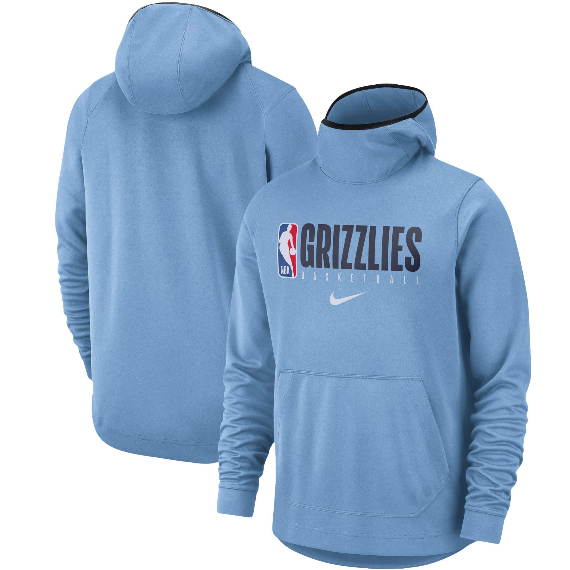 Memphis Grizzlies Nike Spotlight Practice Performance Pullover Hoodie - Light Blue