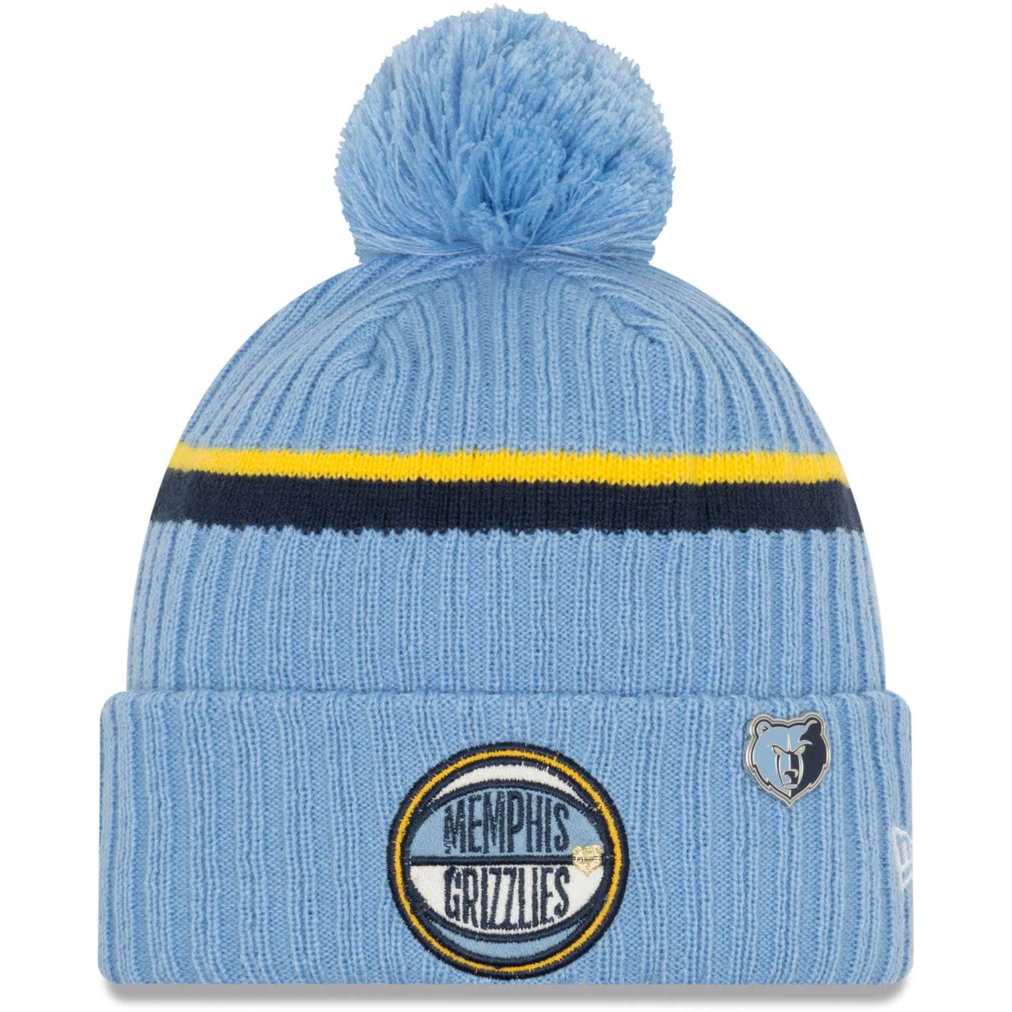 Memphis Grizzlies New Era Youth 2019 NBA Draft Cuffed Knit Hat - Light Blue