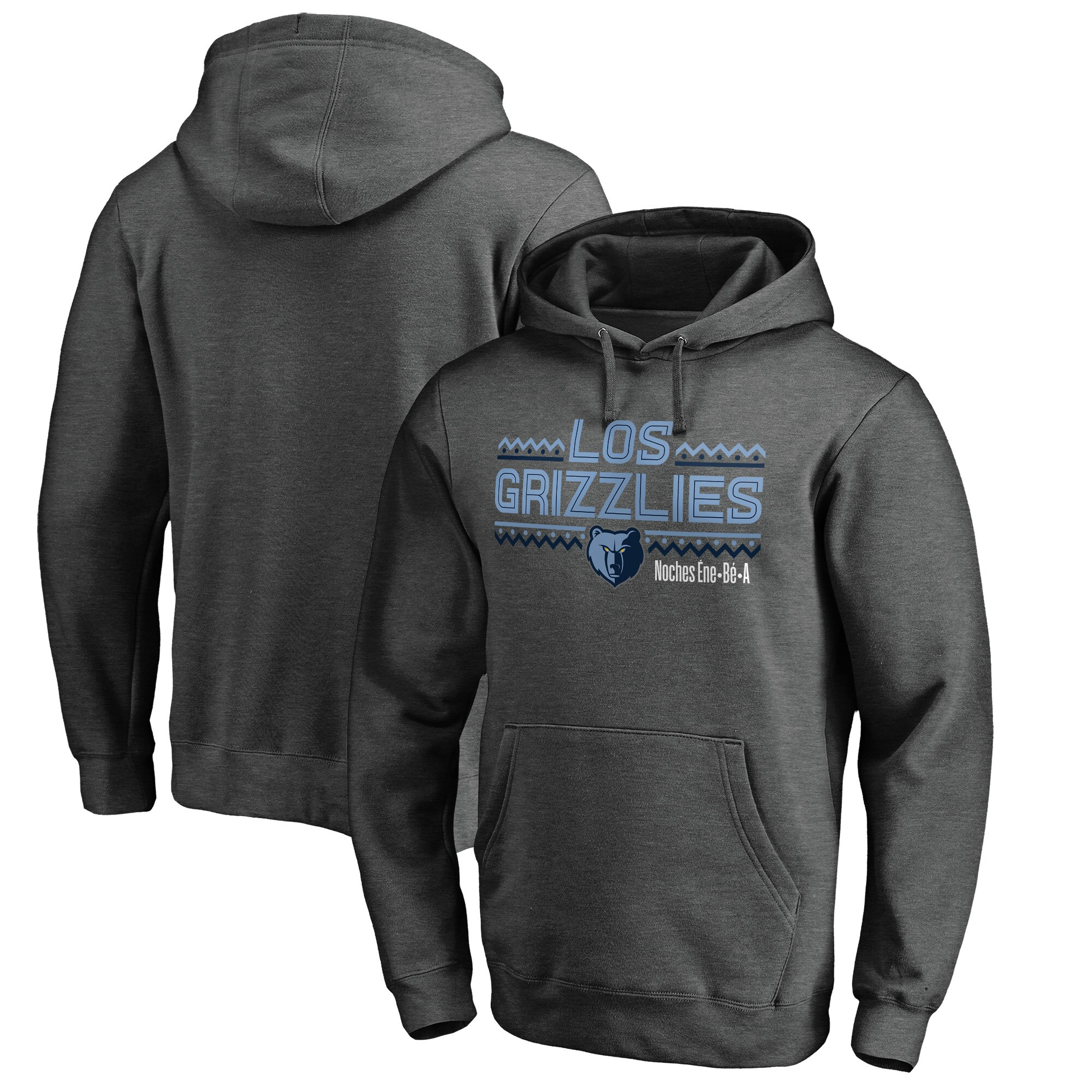 Memphis Grizzlies Fanatics Branded Noches Ene-Be-A Pullover Hoodie - Heather Gray