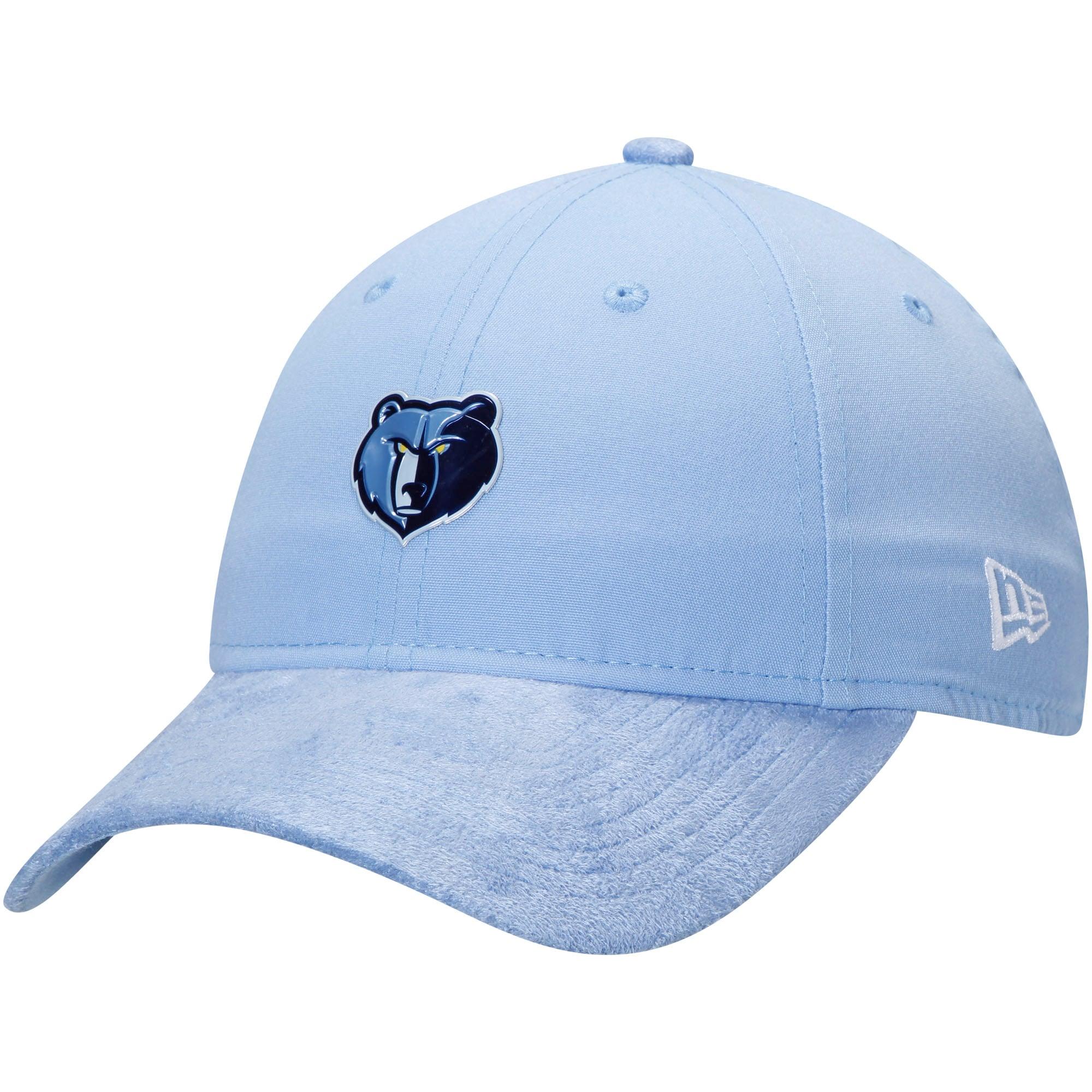 Memphis Grizzlies New Era Official On-Court Collection Draft Series 9TWENTY Adjustable Hat - Light Blue