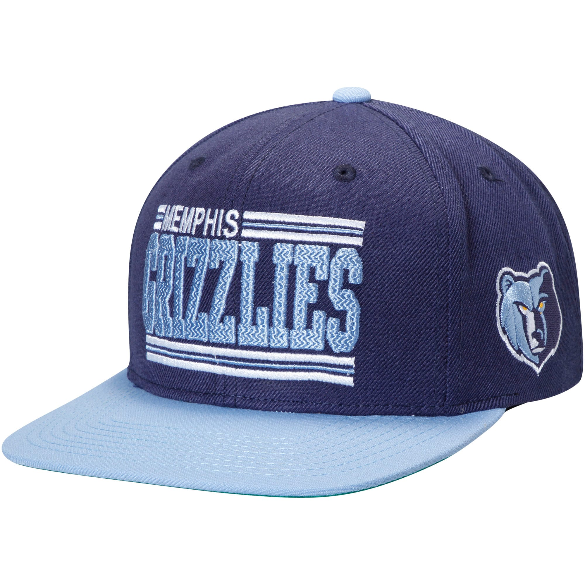 Memphis Grizzlies Mitchell & Ness Between the Lines Adjustable Snapback Hat - Navy