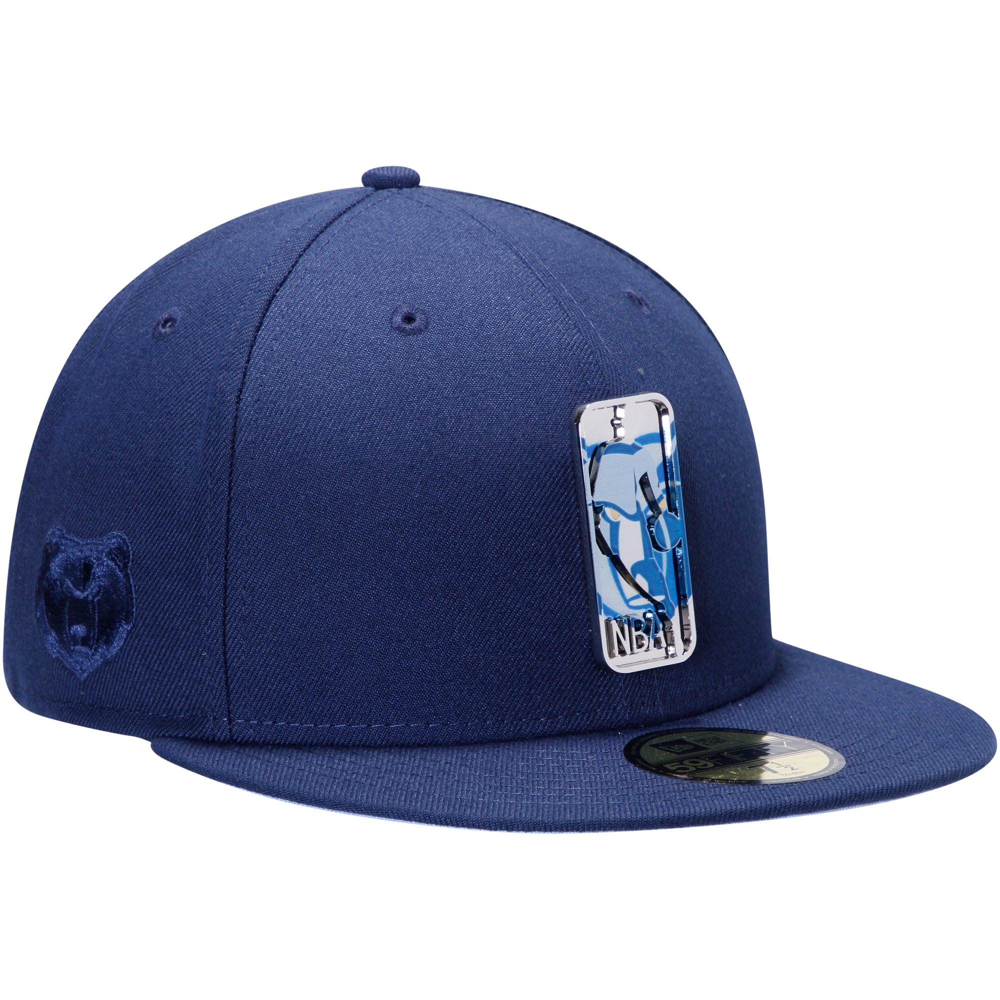 Memphis Grizzlies New Era Mixed Metal 59FIFTY Fitted Hat - Navy