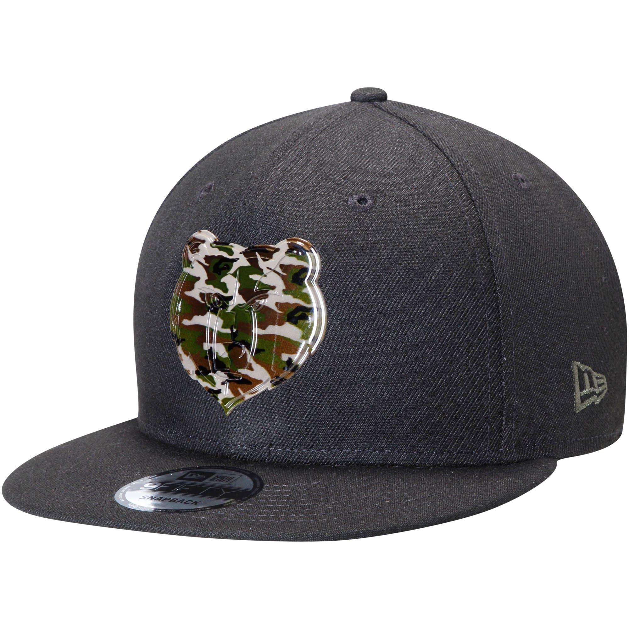 Memphis Grizzlies New Era Camo Badge 9FIFTY Adjustable Snapback Hat - Black