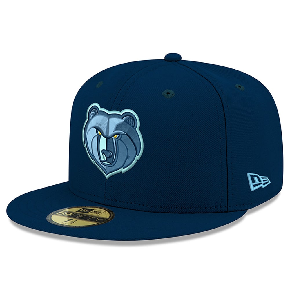 Memphis Grizzlies New Era New Logo Official Team Color 59FIFTY Fitted Hat - Blue