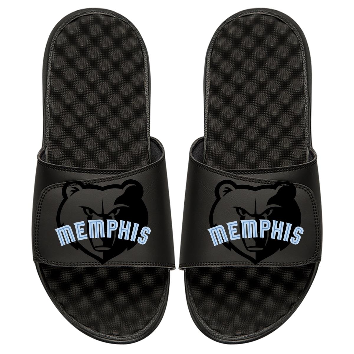 Memphis Grizzlies ISlide Tonal Pop Slide Sandals - Black