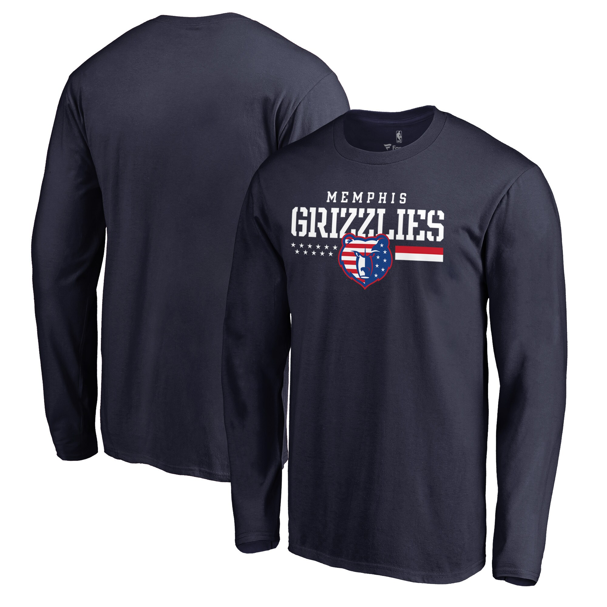 Memphis Grizzlies Fanatics Branded Hoops For Troops Long Sleeve T-Shirt - Navy
