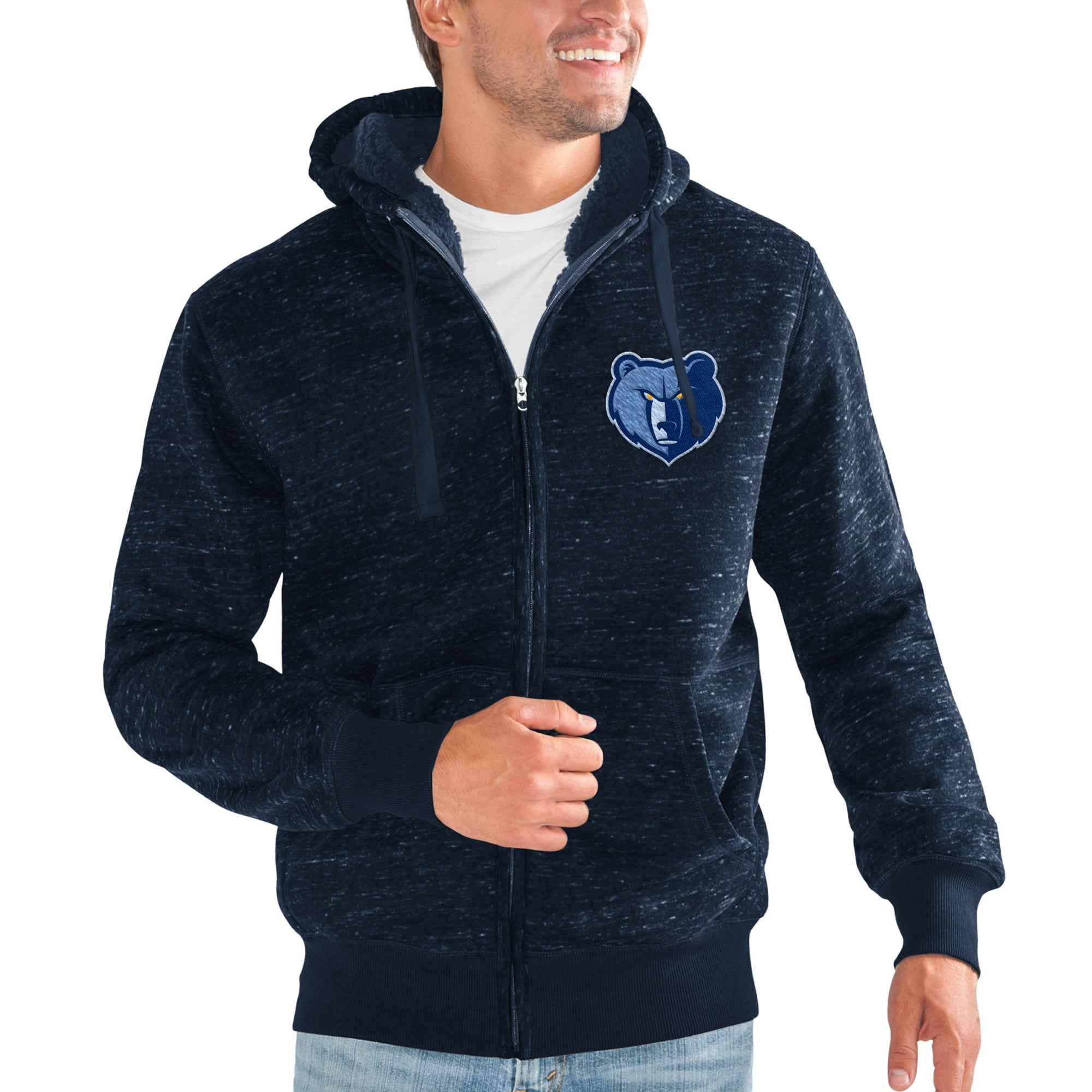 Memphis Grizzlies G-III Sports by Carl Banks Discovery Transitional Full-Zip Jacket - Navy