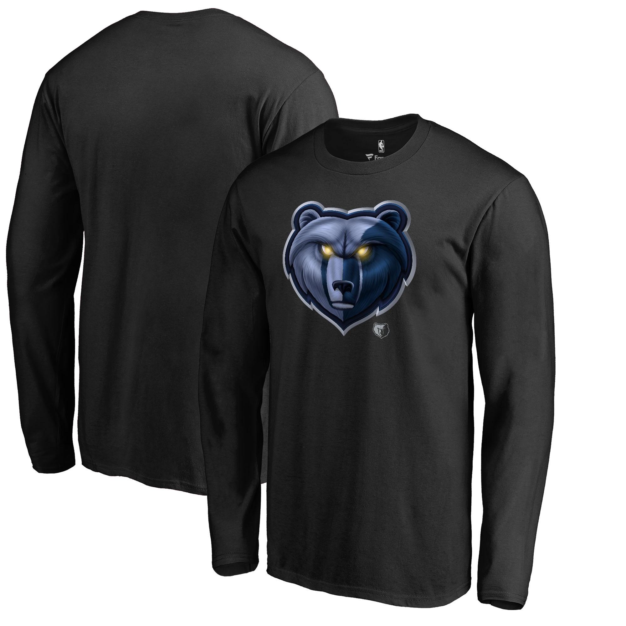 Memphis Grizzlies Fanatics Branded Midnight Mascot Long Sleeve T-Shirt - Black