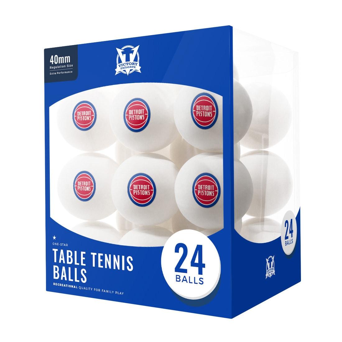 Detroit Pistons 24-Count Logo Table Tennis Balls