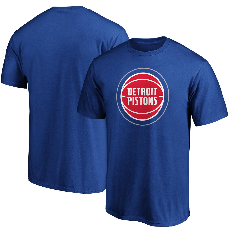 Detroit Pistons Fanatics Branded Primary Team Logo T-Shirt - Blue