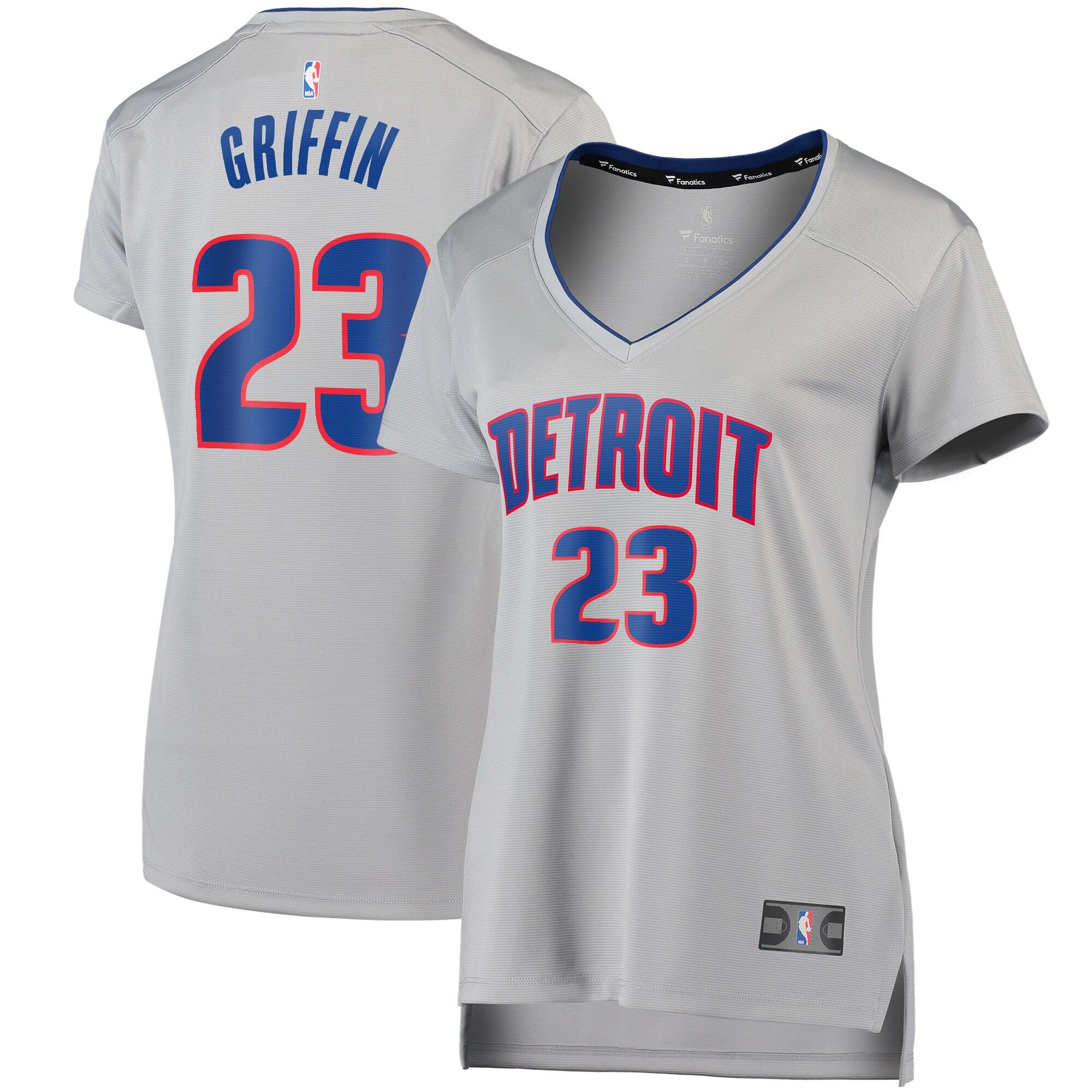 Blake Griffin Detroit Pistons Fanatics Branded Women's Fast Break Replica Player Jersey - Statement Edition - Gray