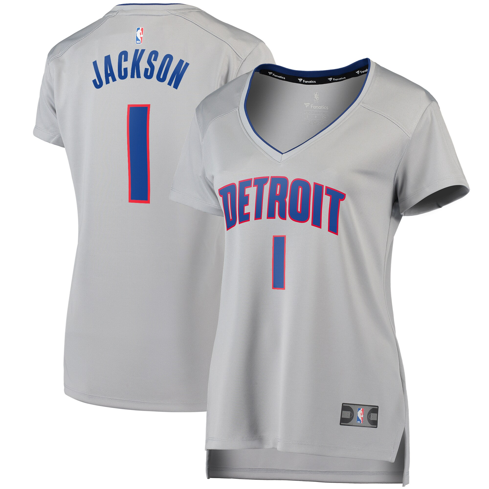 Reggie Jackson Detroit Pistons Fanatics Branded Women's Fast Break Replica Player Jersey - Statement Edition - Gray