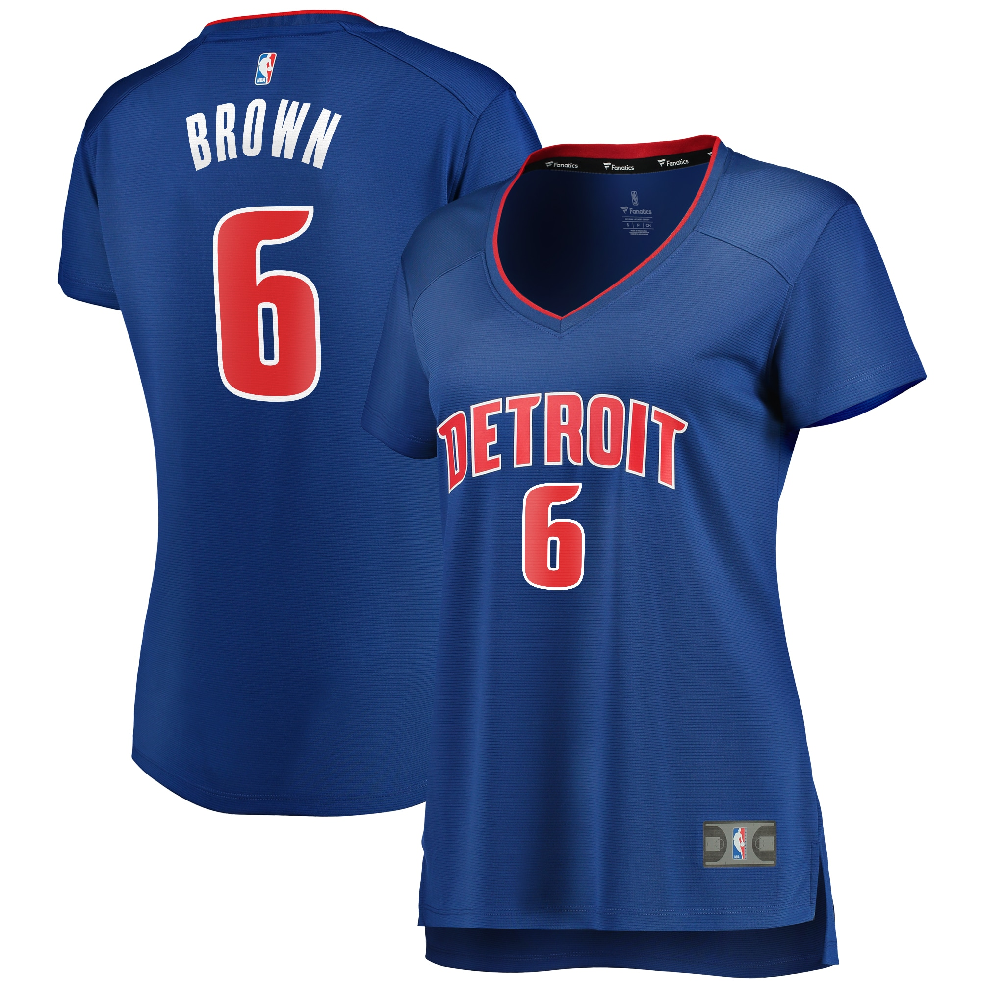 Bruce Brown Detroit Pistons Fanatics Branded Women's Fast Break Replica Player Jersey - Icon Edition - Blue