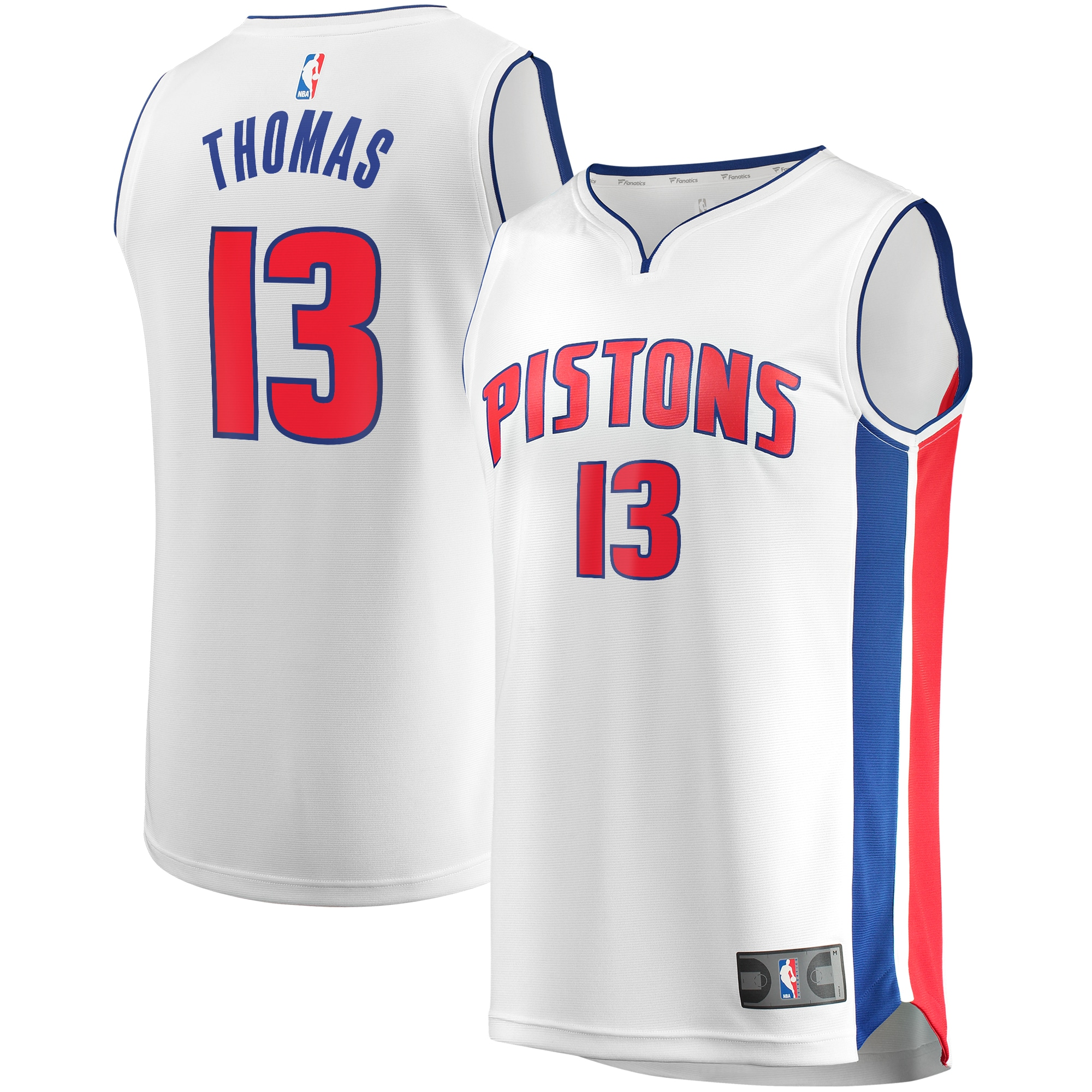 Khyri Thomas Detroit Pistons Fanatics Branded Fast Break Replica Player Team Jersey - Association Edition - White
