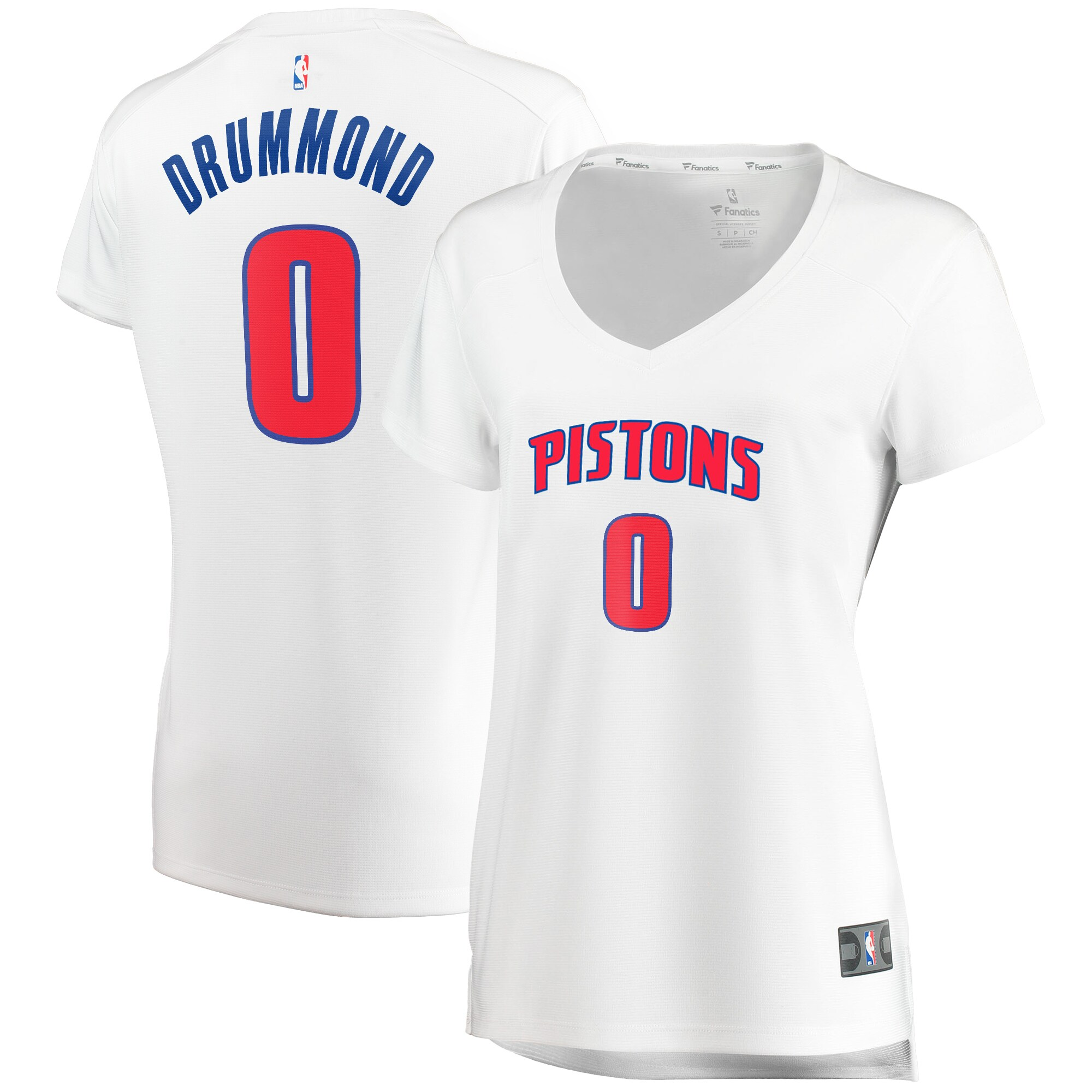 Andre Drummond Detroit Pistons Fanatics Branded Women's Fast Break Replica Player Jersey - Association Edition - White