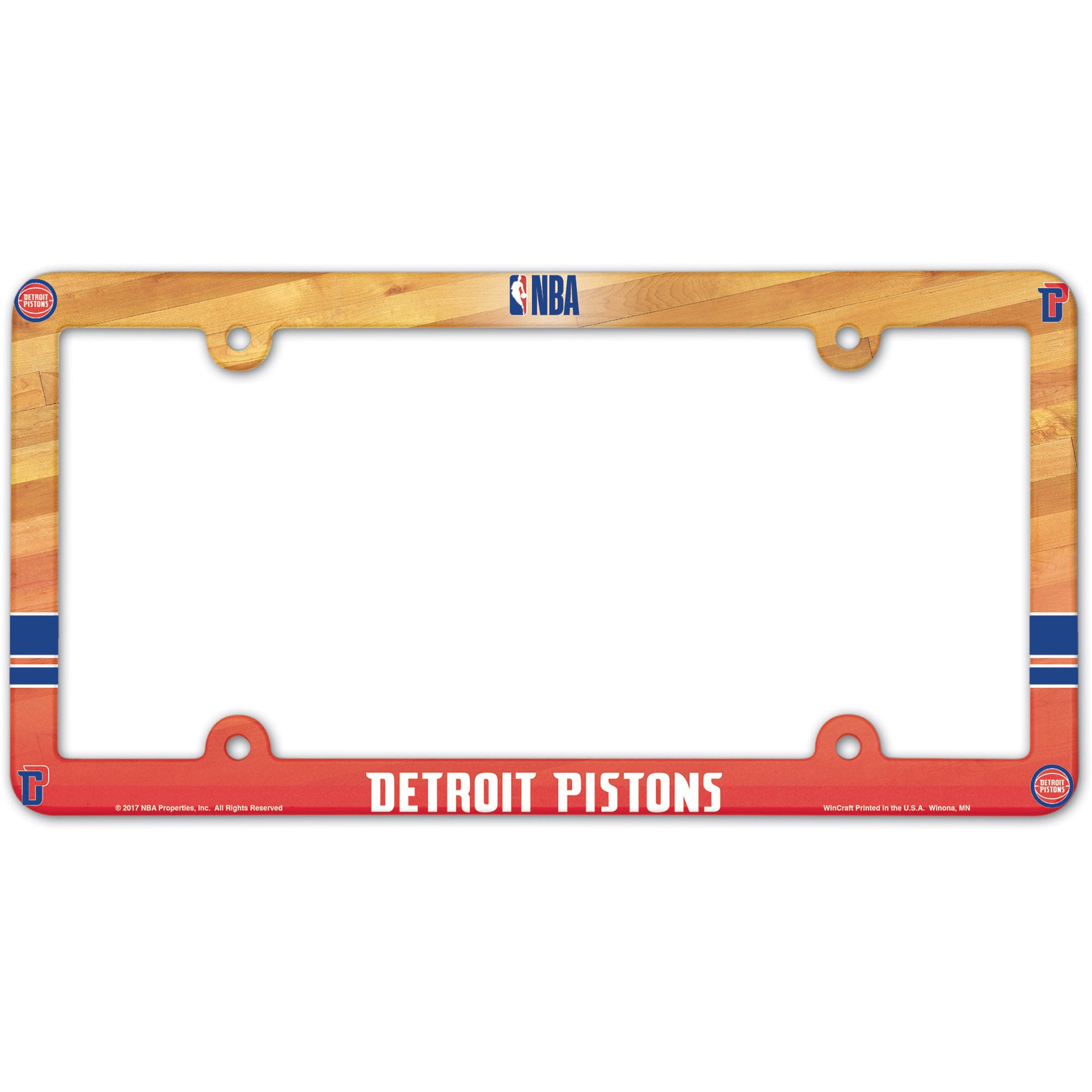 Detroit Pistons WinCraft Team License Plate Frame