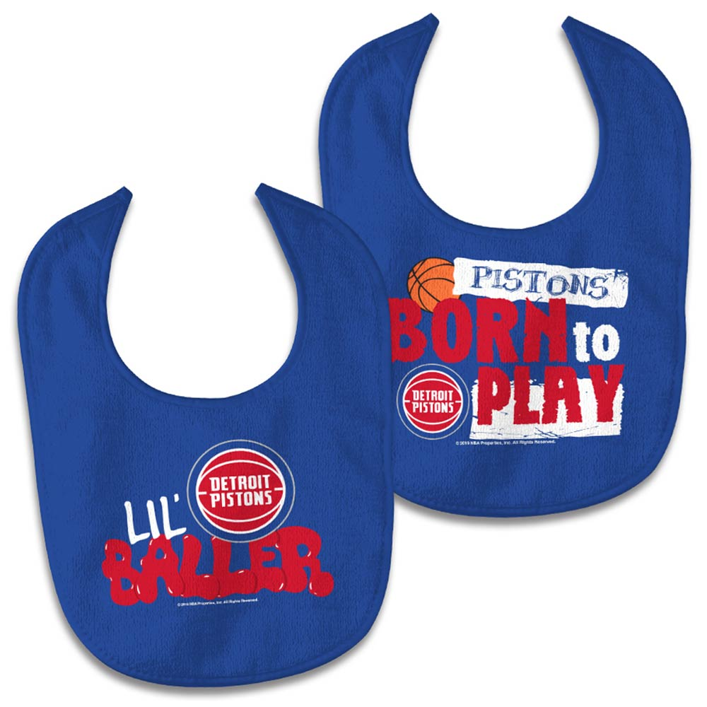 Detroit Pistons WinCraft Newborn & Infant 2-Pack Bib Set