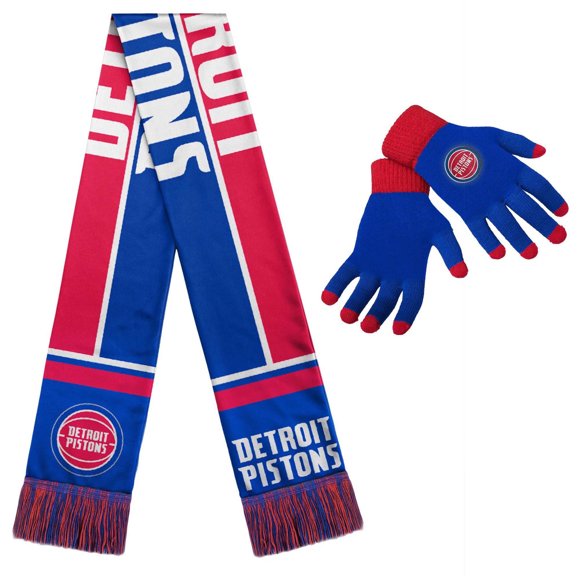 Detroit Pistons Gloves & Scarf Set