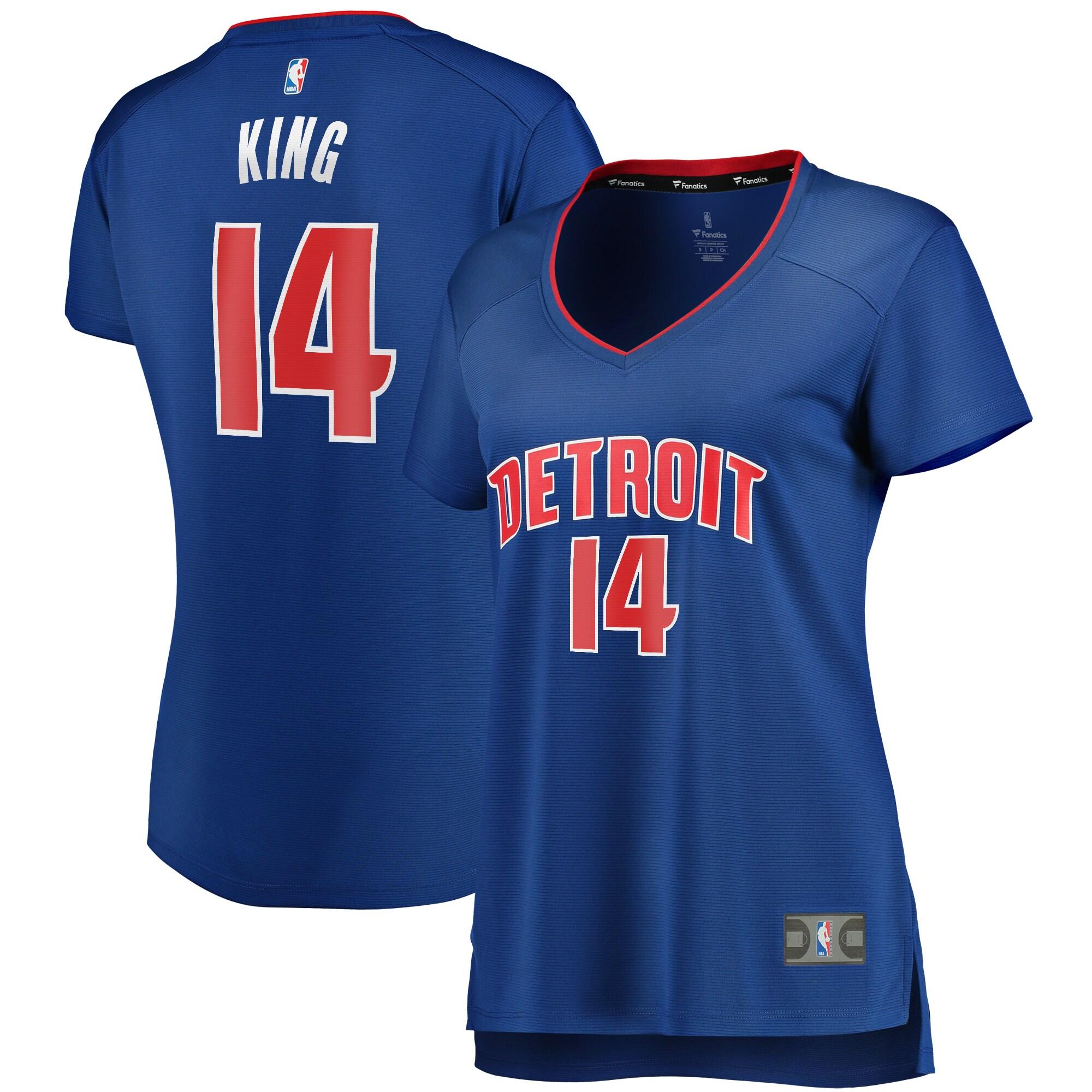 Louis King Detroit Pistons Fanatics Branded Women's Fast Break Replica Jersey Royal - Icon Edition