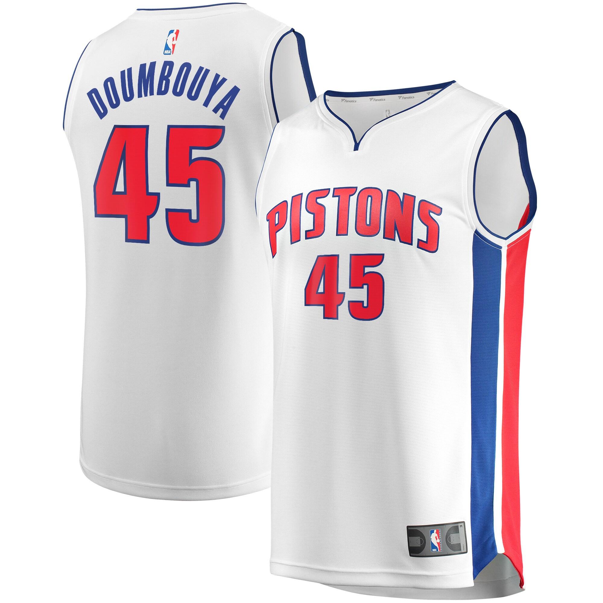 Sekou Doumbouya Detroit Pistons Fanatics Branded Youth Fast Break Replica Jersey White - Association Edition