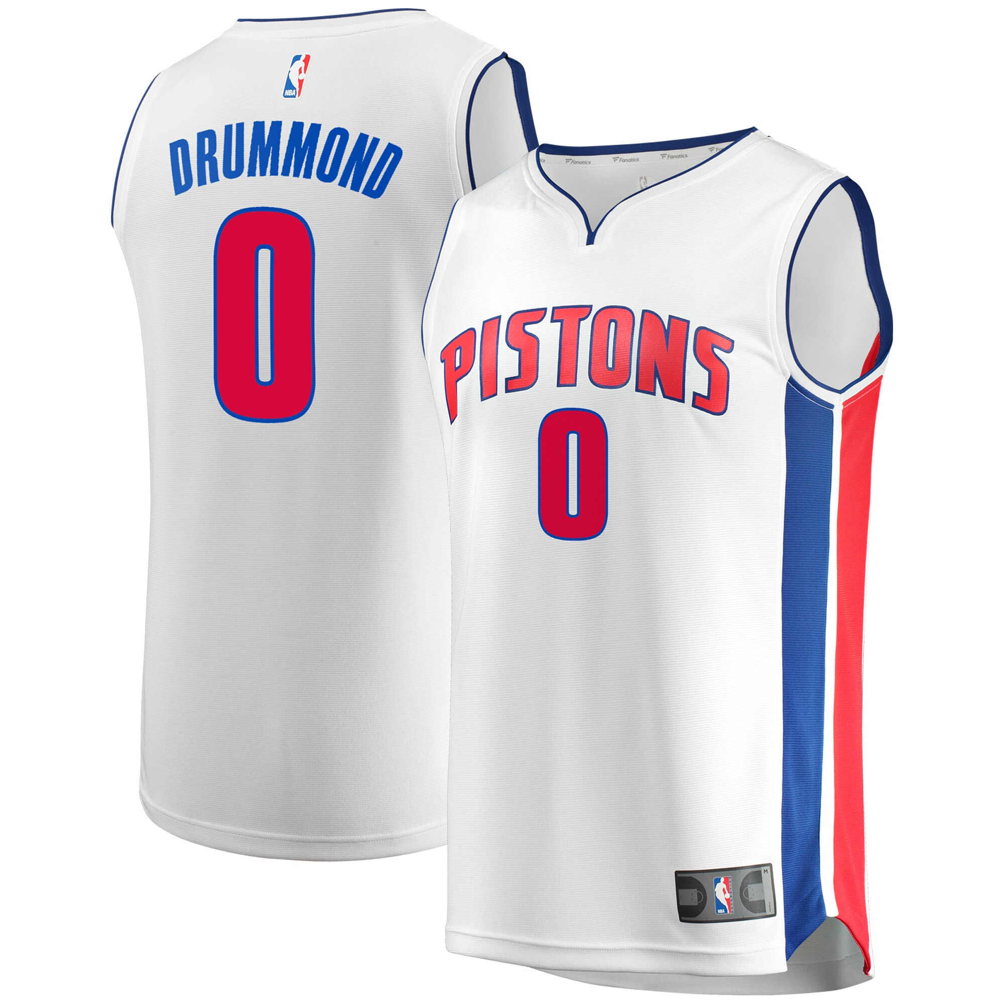 Andre Drummond Detroit Pistons Fanatics Branded Fast Break Replica Jersey - Association Edition - White