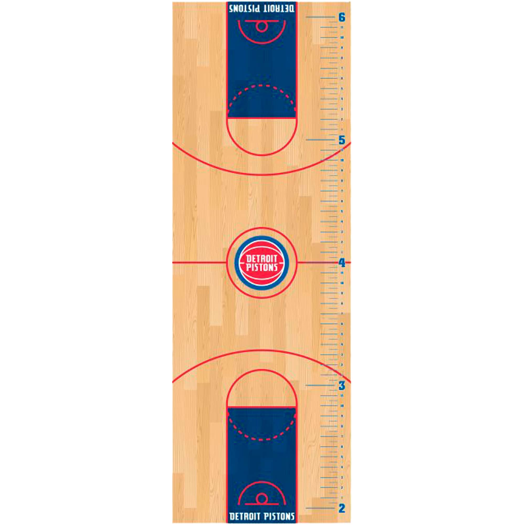Detroit Pistons Fathead Basketball Court Large Removable Growth Chart