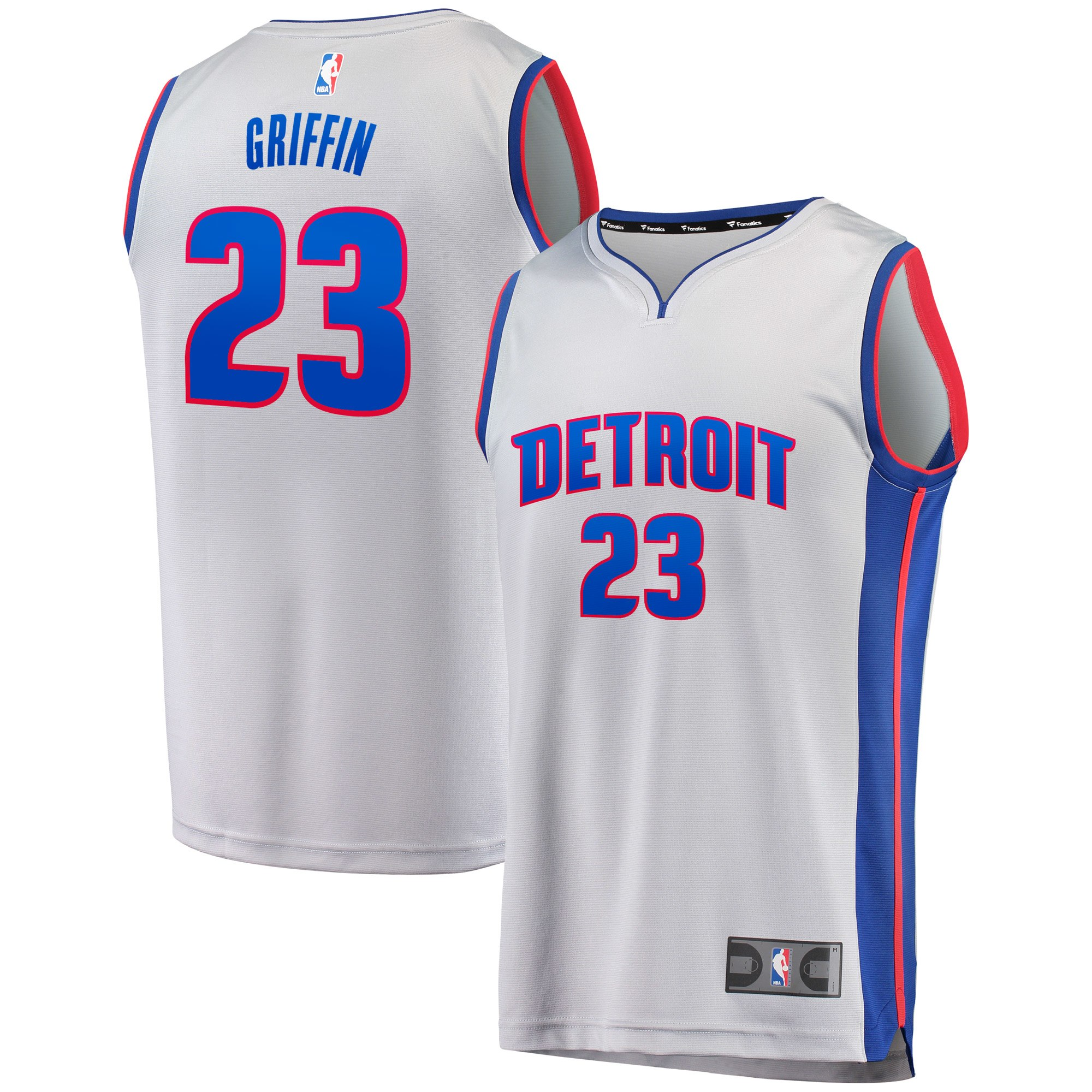 Blake Griffin Detroit Pistons Fanatics Branded Youth Fast Break Jersey - Statement Edition - Silver