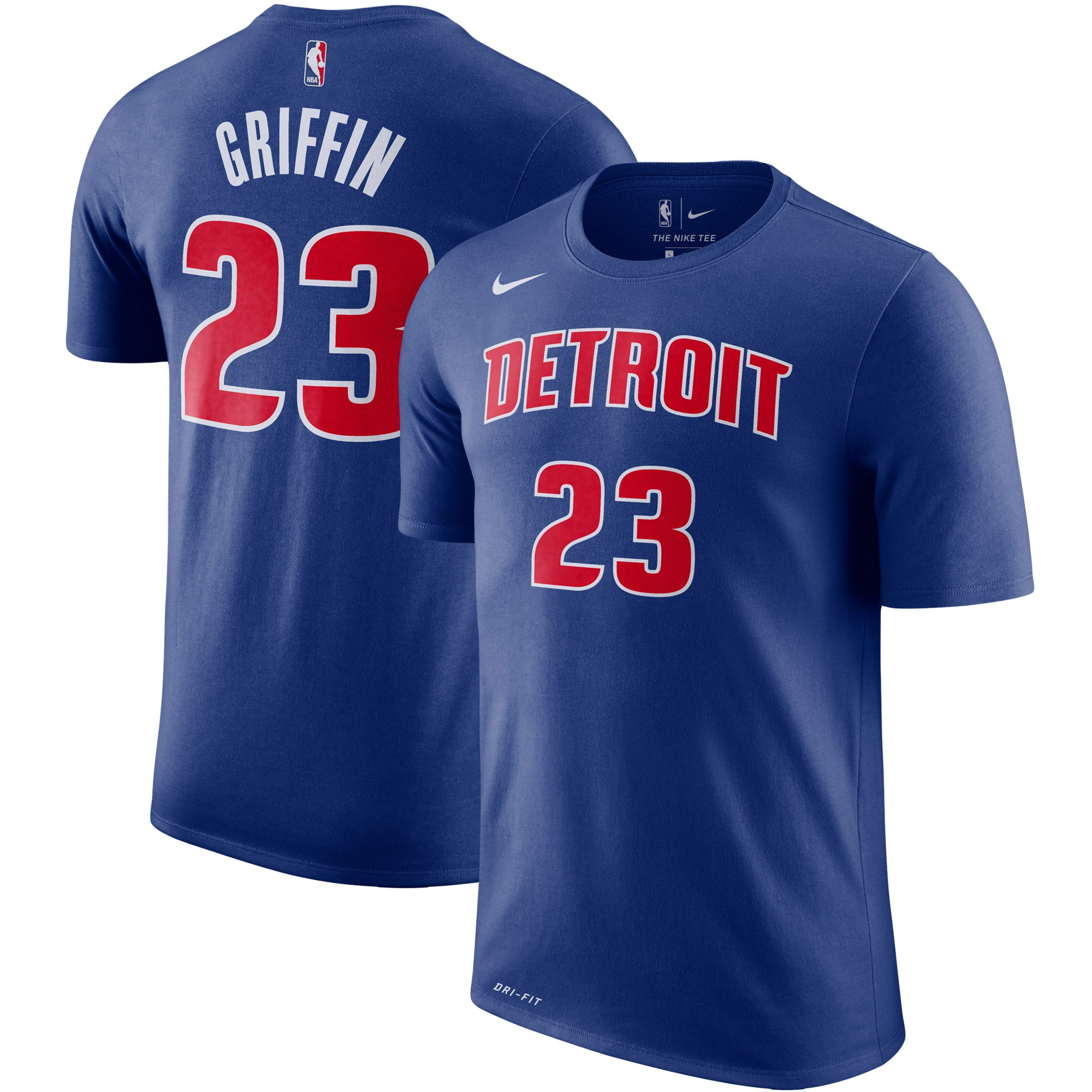Blake Griffin Detroit Pistons Nike Player Name & Number Performance T-Shirt - Blue