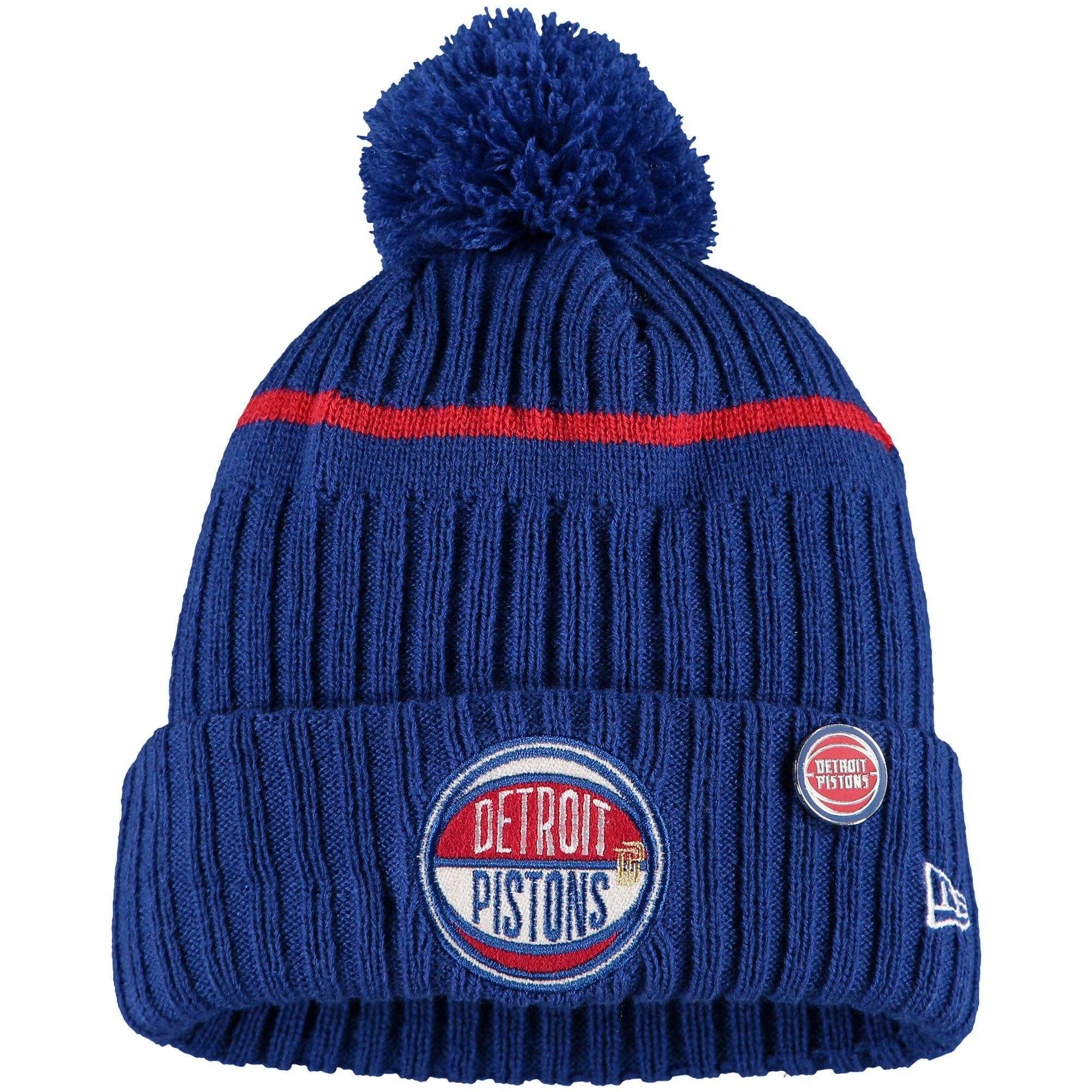 Detroit Pistons New Era Youth 2019 NBA Draft Cuffed Knit Hat - Blue