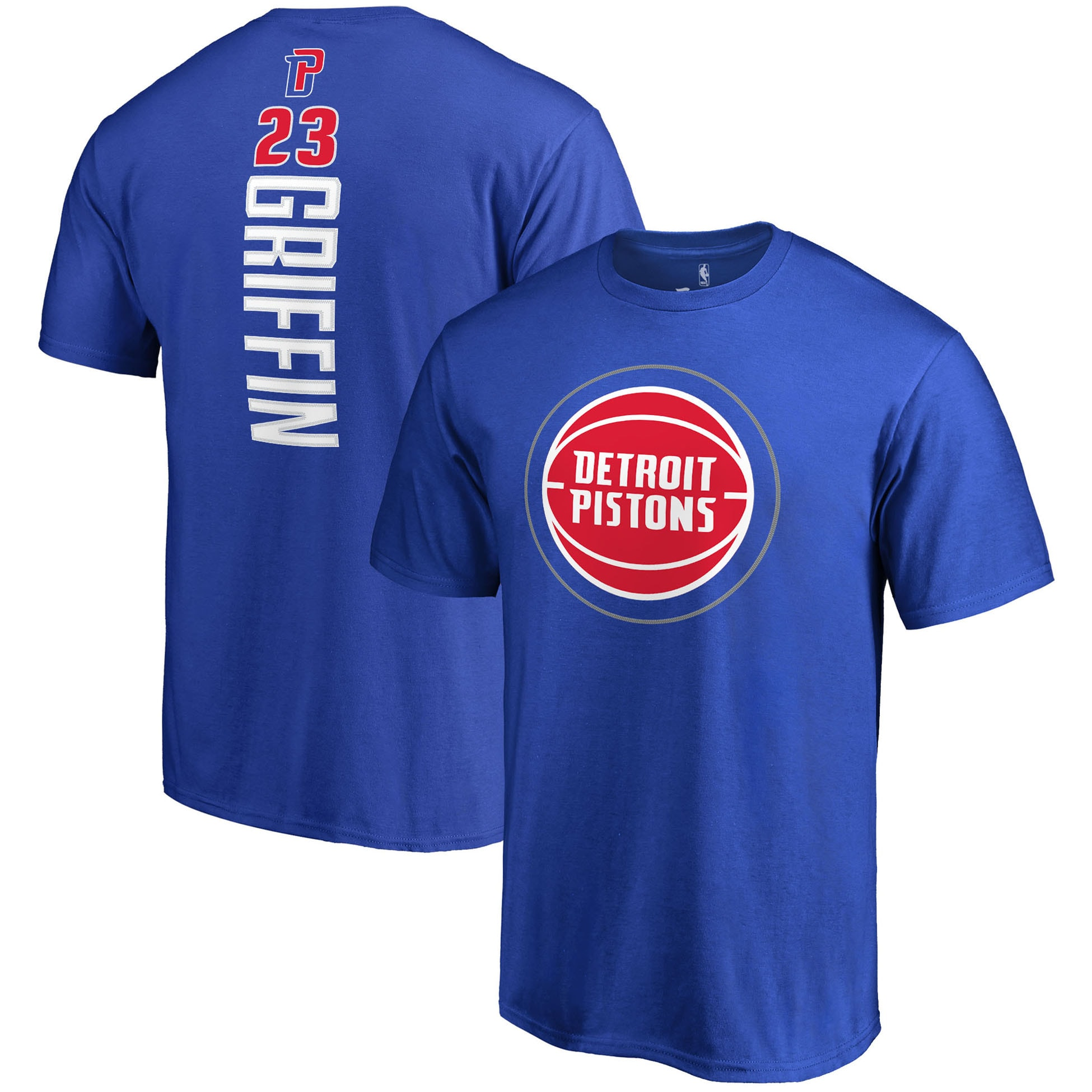 Blake Griffin Detroit Pistons Fanatics Branded Team Backer Name & Number T-Shirt - Blue
