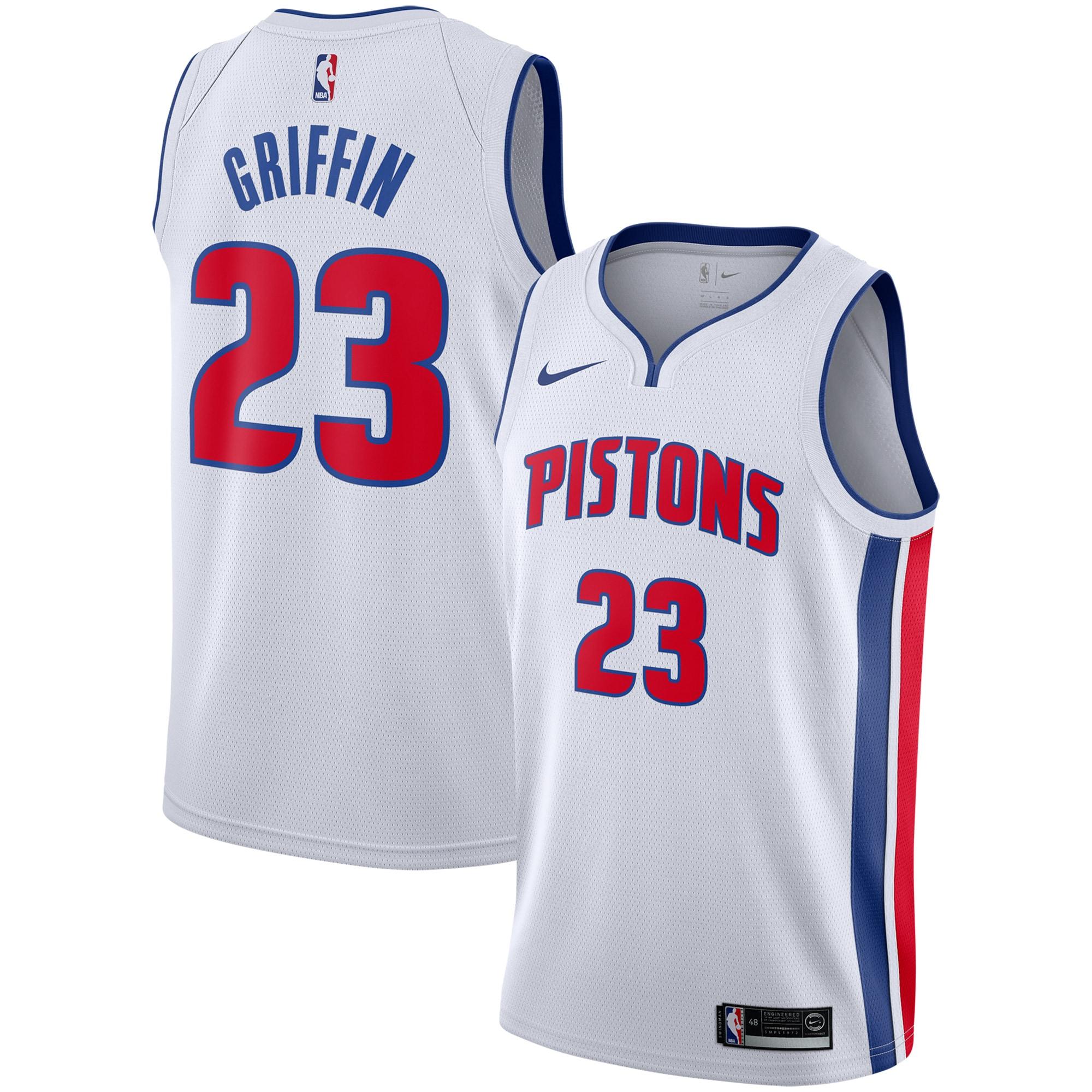 Blake Griffin Detroit Pistons Nike Replica Swingman Jersey - Association Edition - White