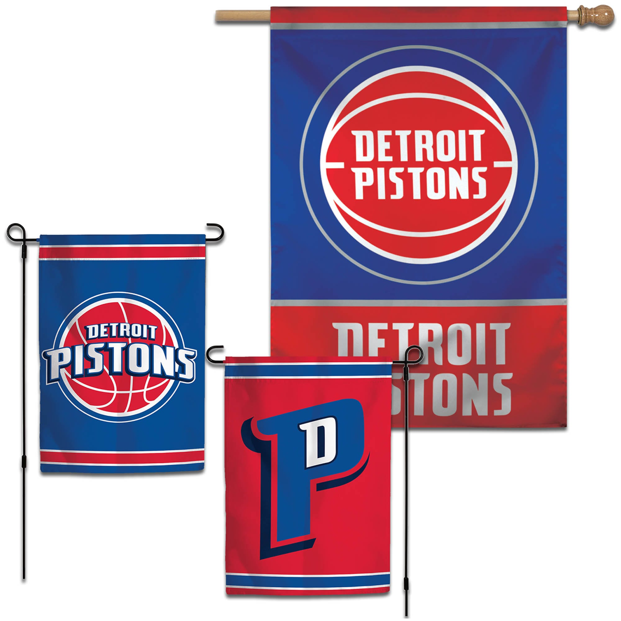 Detroit Pistons WinCraft House and Garden Flag Pack