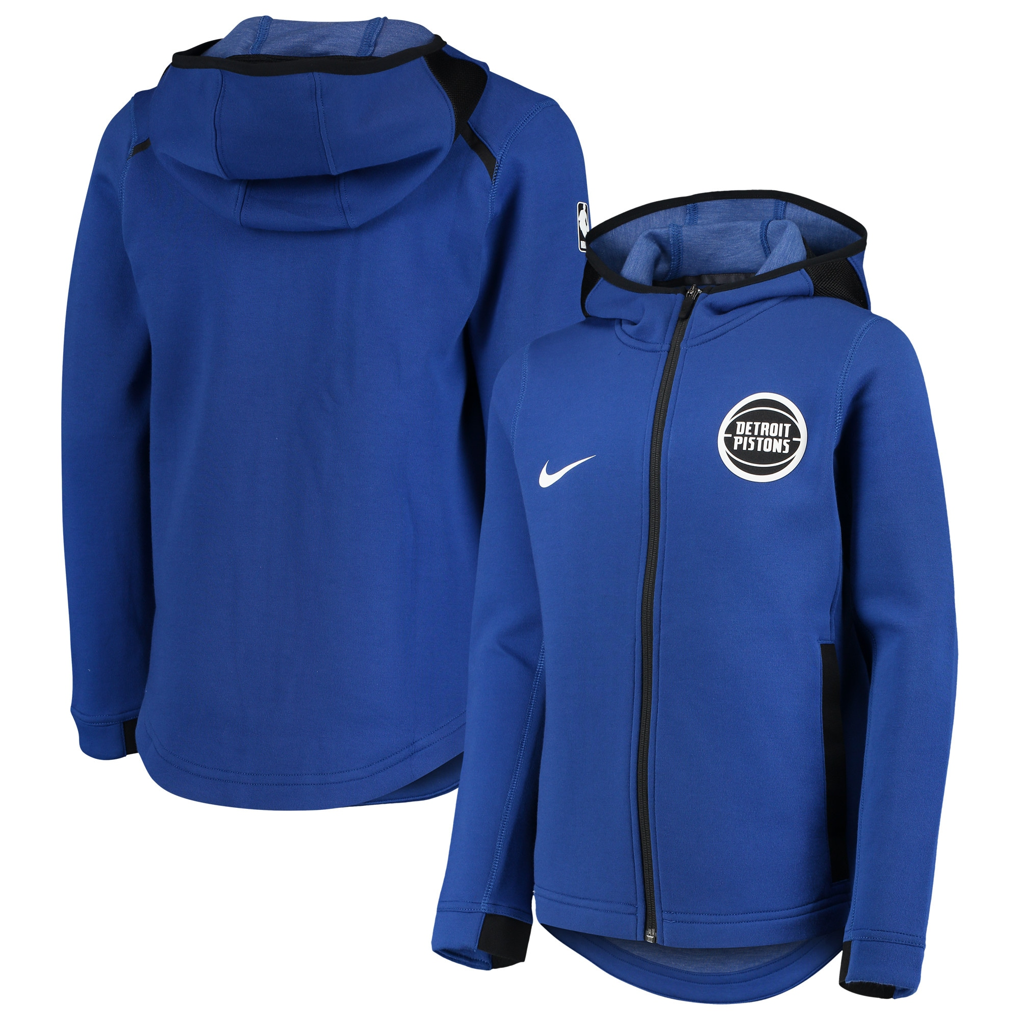 Detroit Pistons Nike Youth Showtime Performance Full-Zip Hoodie - Blue