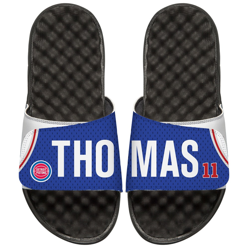 Isiah Thomas Detroit Pistons ISlide Youth Retro Jersey Slide Sandals
