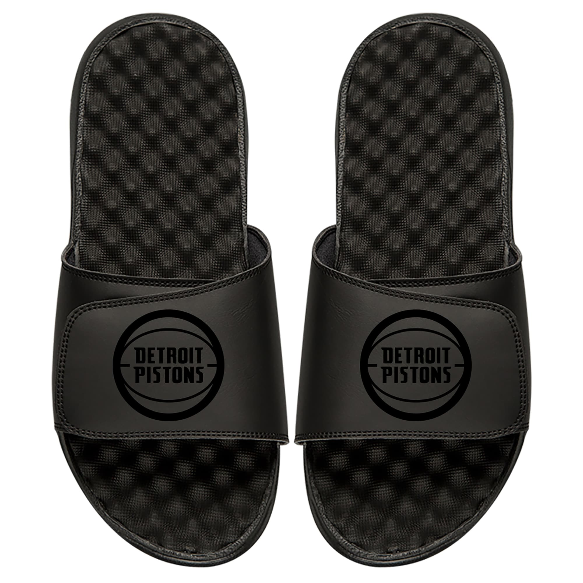 Detroit Pistons ISlide Tonal Slide Sandals - Black
