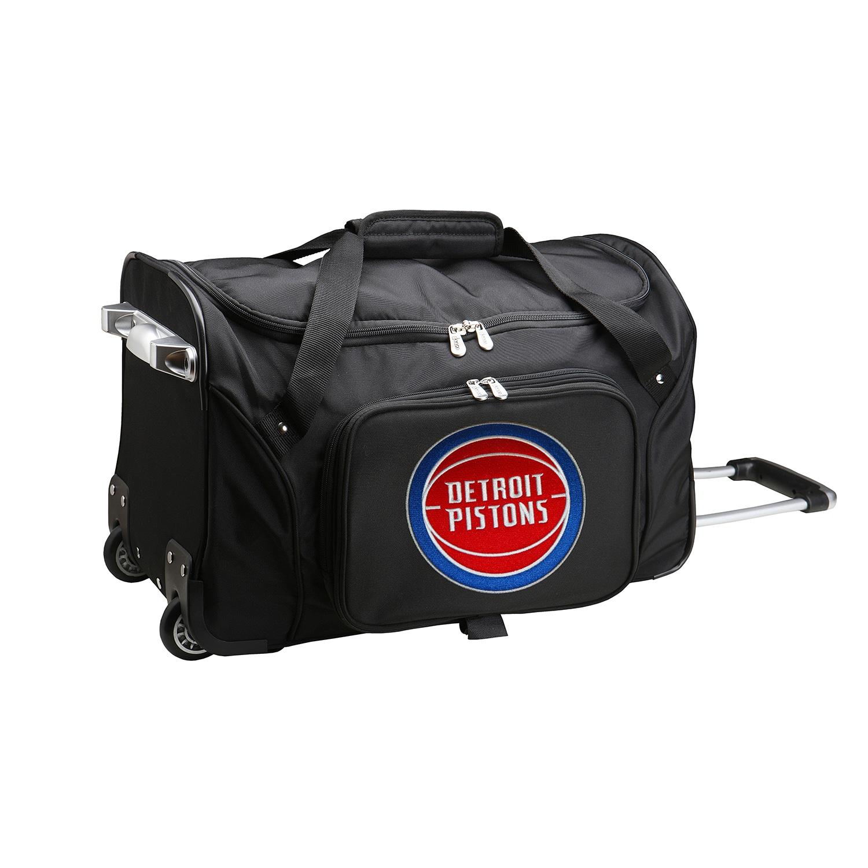 "Detroit Pistons 22"" 2-Wheeled Duffel Bag - Black"