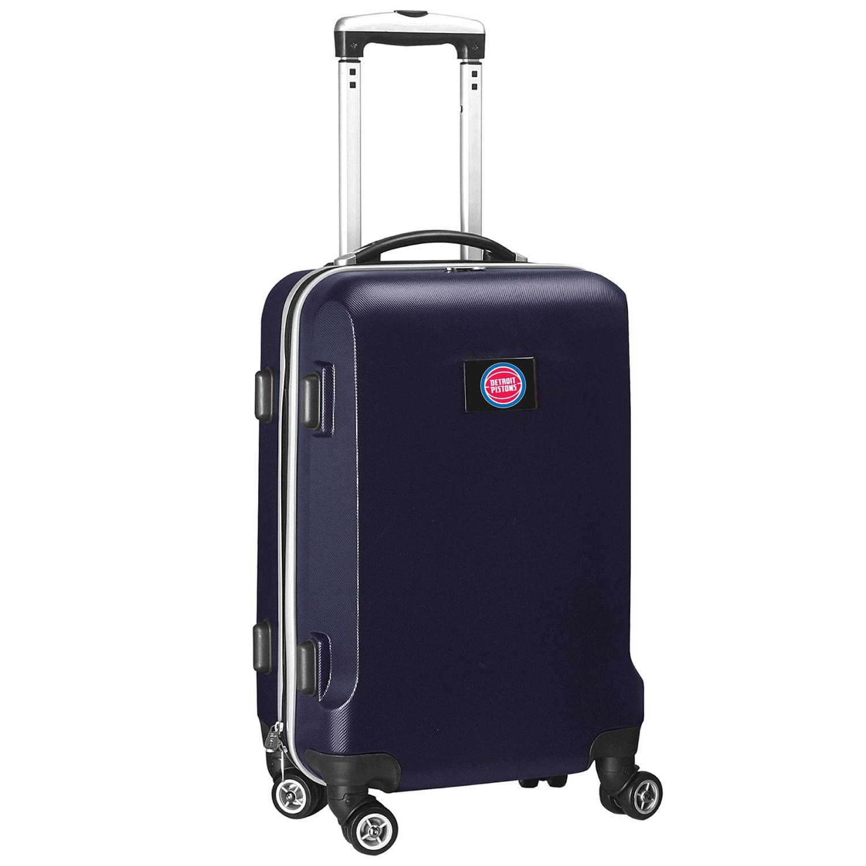 """Detroit Pistons 21"""" 8-Wheel Hardcase Spinner Carry-On - Navy"""