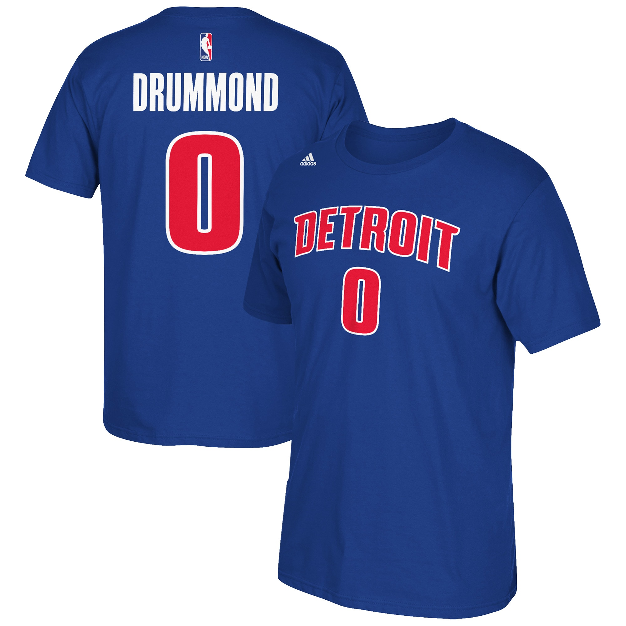 Andre Drummond Detroit Pistons adidas Net Number T-Shirt - Royal