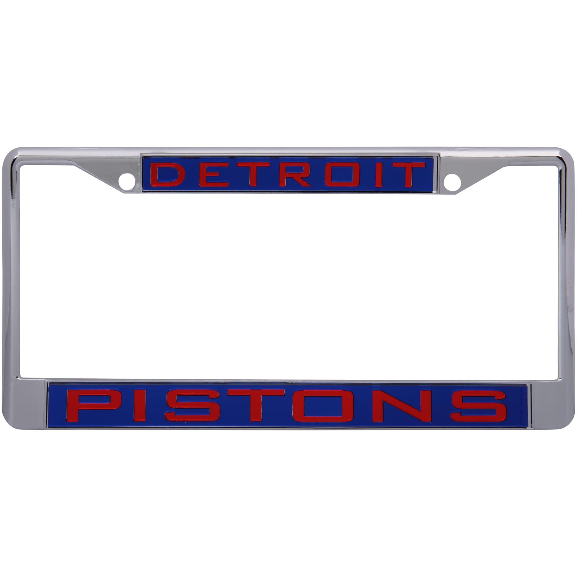 Detroit Pistons WinCraft Laser Inlaid Metal License Plate Frame