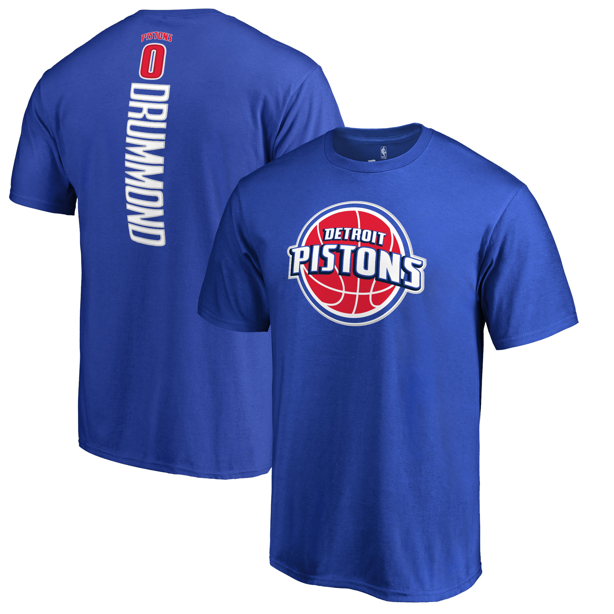 Andre Drummond Detroit Pistons Backer Name & Number T-Shirt - Blue