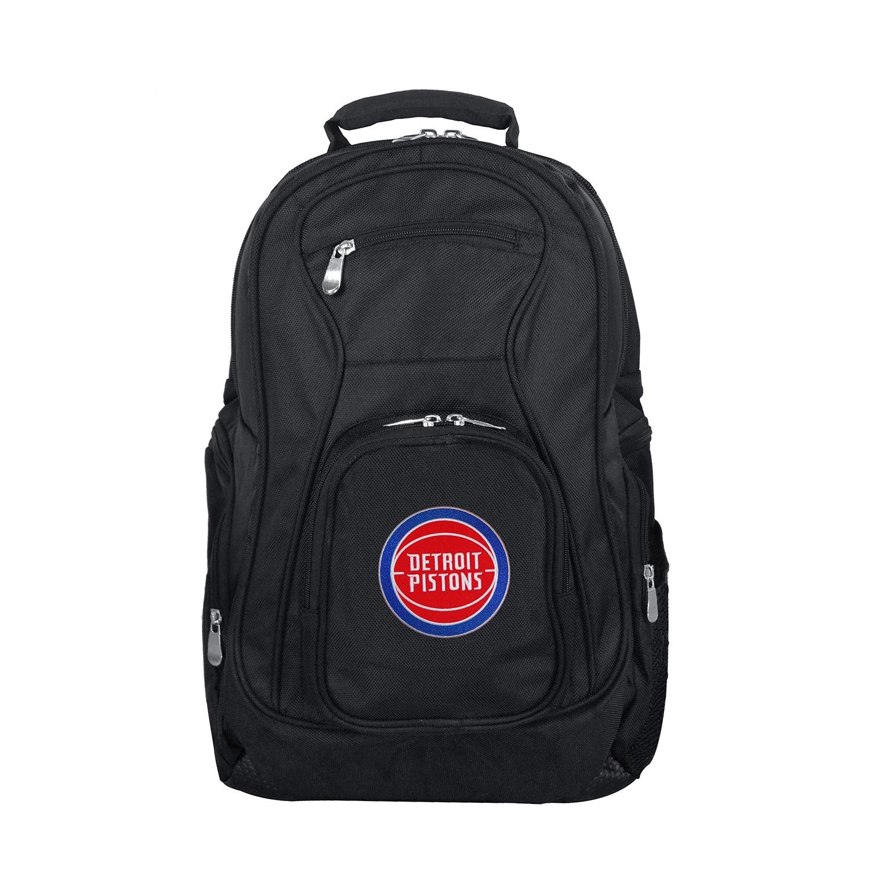 """Detroit Pistons 19"""" Laptop Travel Backpack - Black"""
