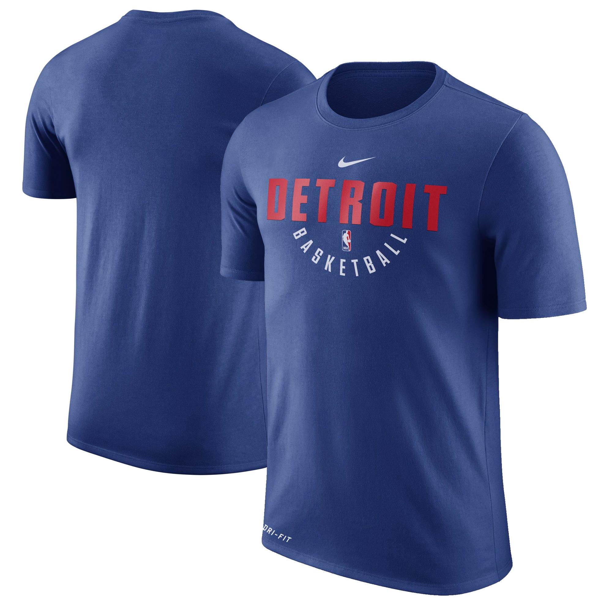 Detroit Pistons Nike Practice Performance T-Shirt - Blue