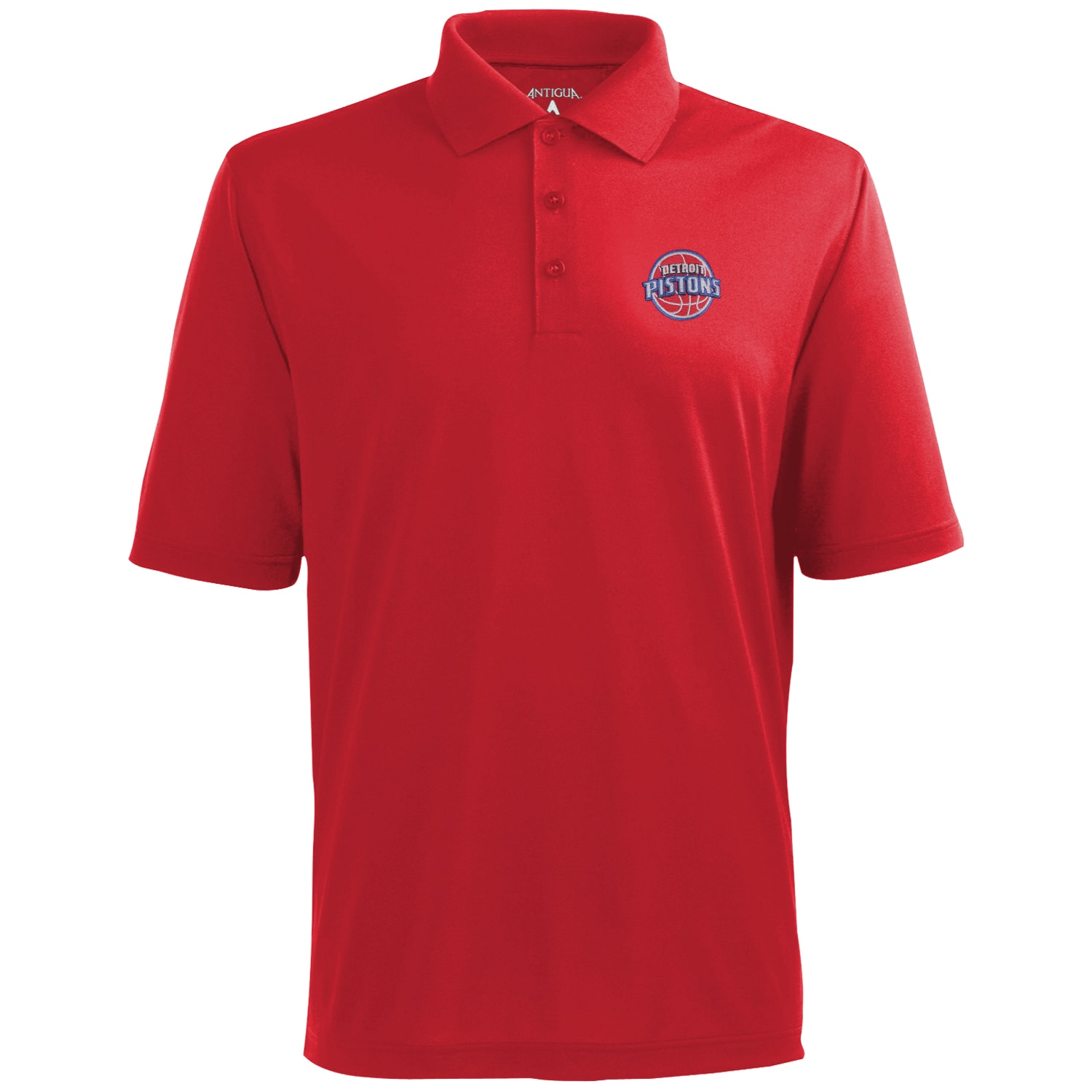 Antigua Detroit Pistons Pique Xtra-Lite Performance Polo - Red