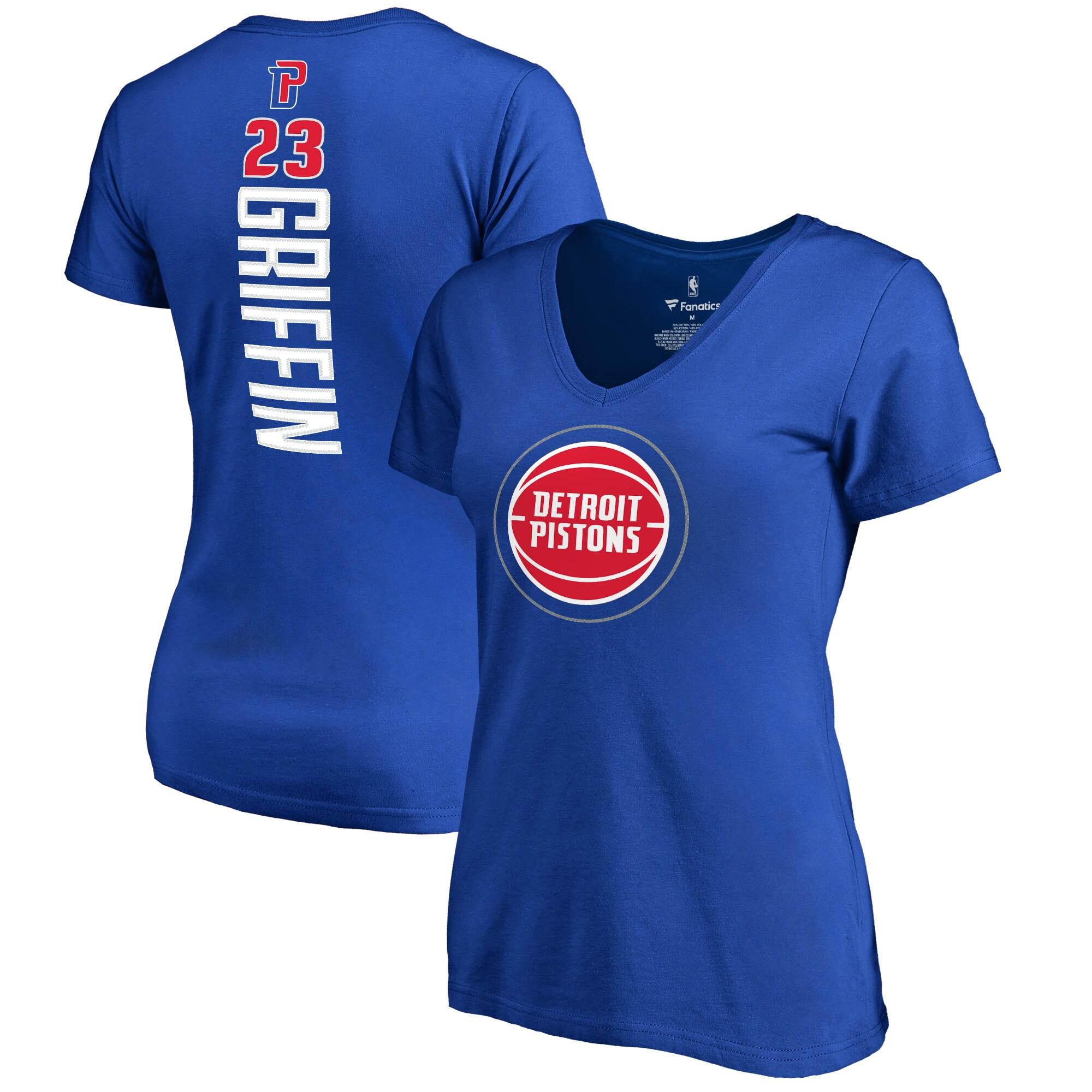 Blake Griffin Detroit Pistons Fanatics Branded Women's Backer V-Neck T-Shirt - Royal